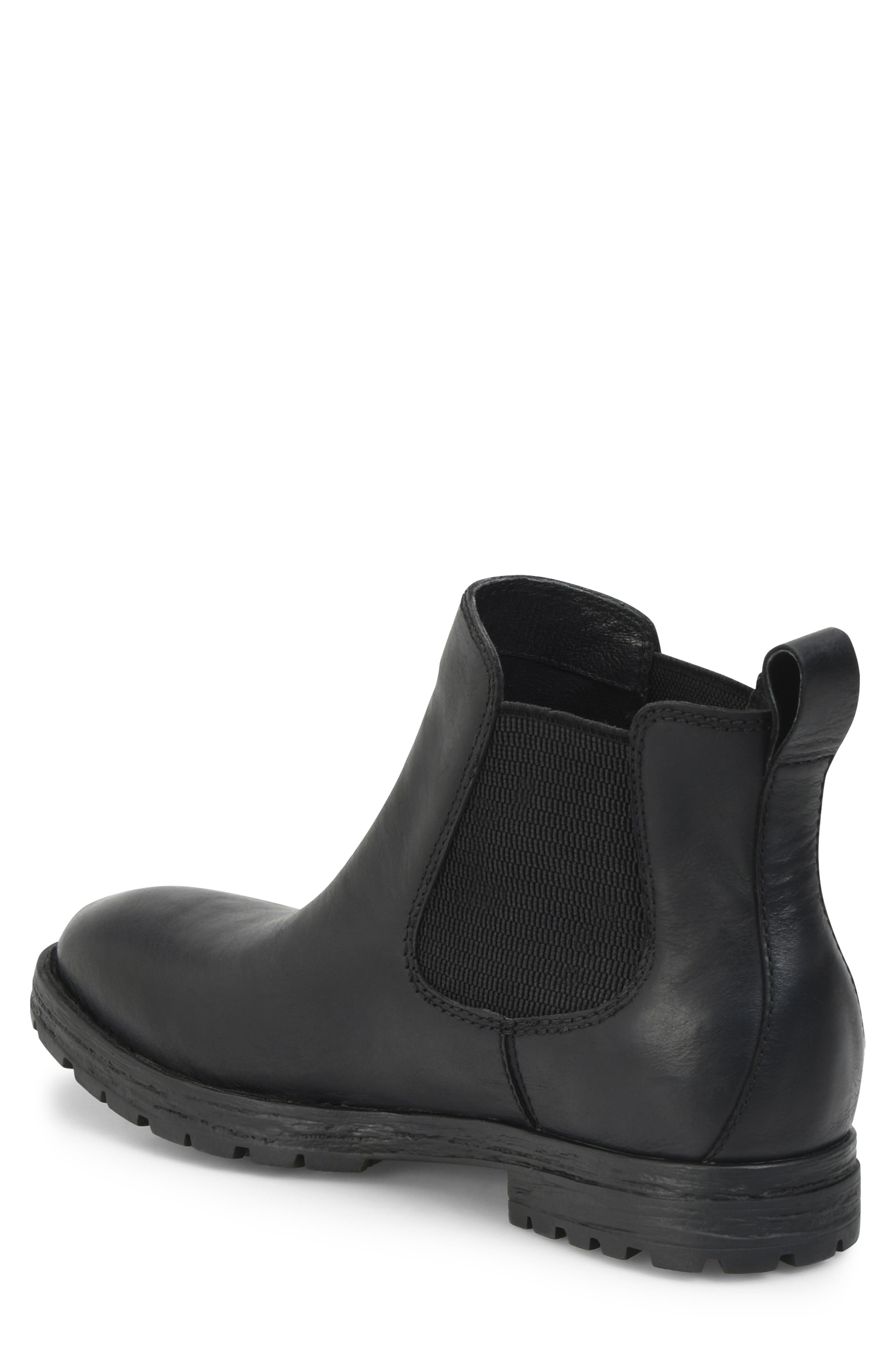 Pike Mid Waterproof Chelsea Boot,                             Alternate thumbnail 2, color,                             BLACK LEATHER