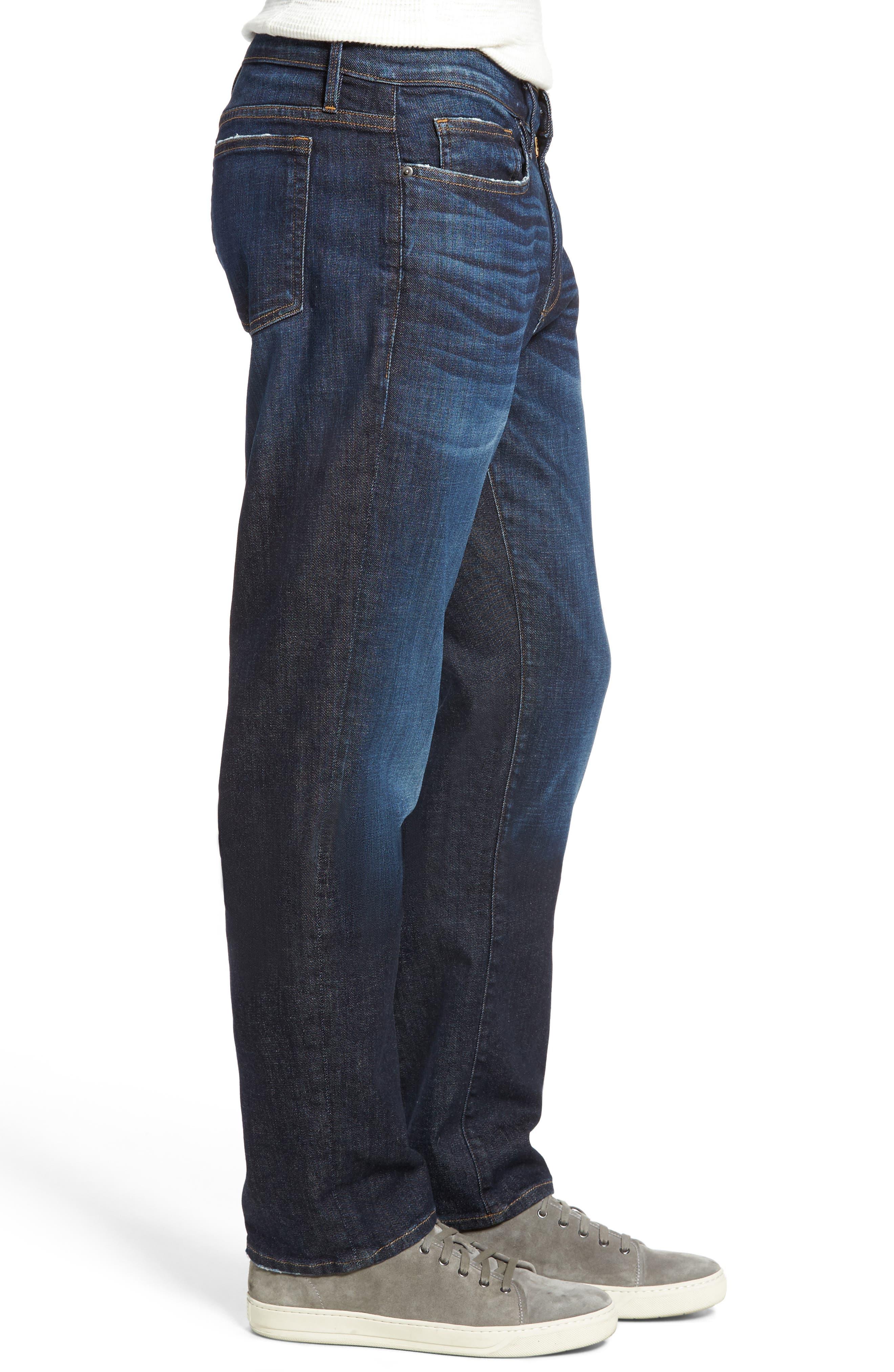 L'Homme Slim Straight Leg Jeans,                             Alternate thumbnail 3, color,                             401