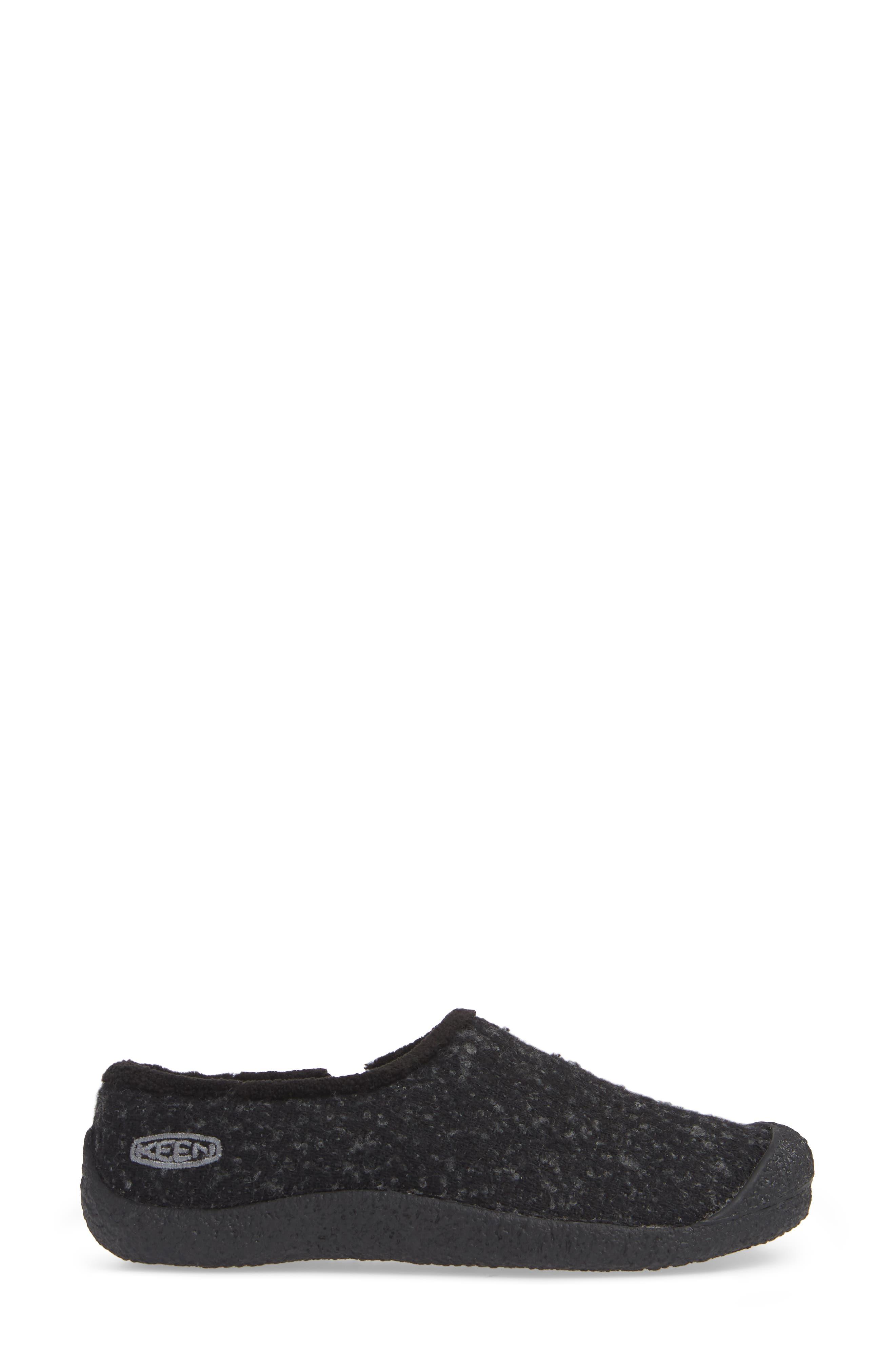 Howser Round Toe Wool Slip-on,                             Alternate thumbnail 3, color,                             BLACK KNOBBY/ STEEL GREY WOOL