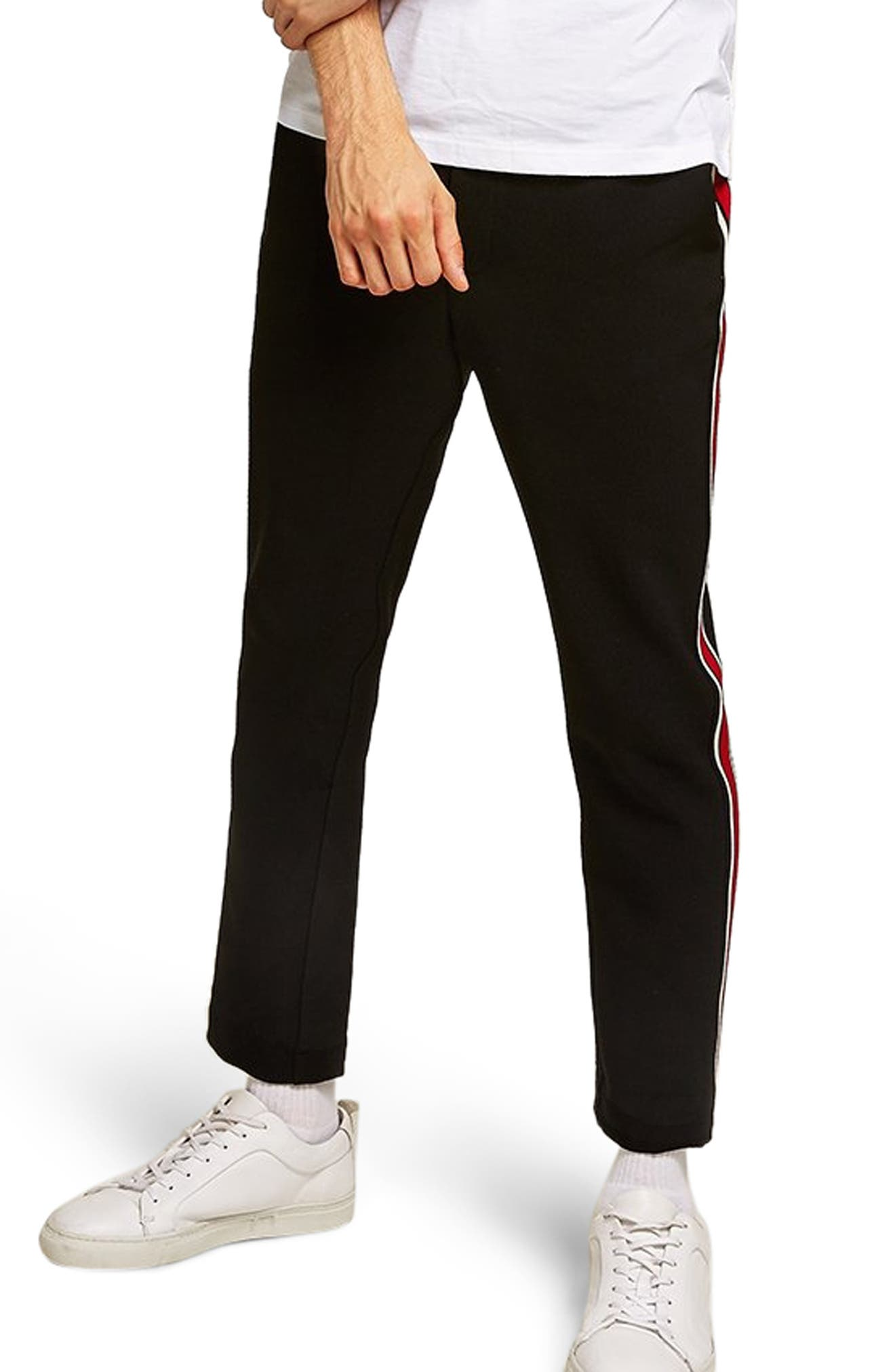 Side Stripe Skinny Fit Joggers,                             Main thumbnail 1, color,                             001
