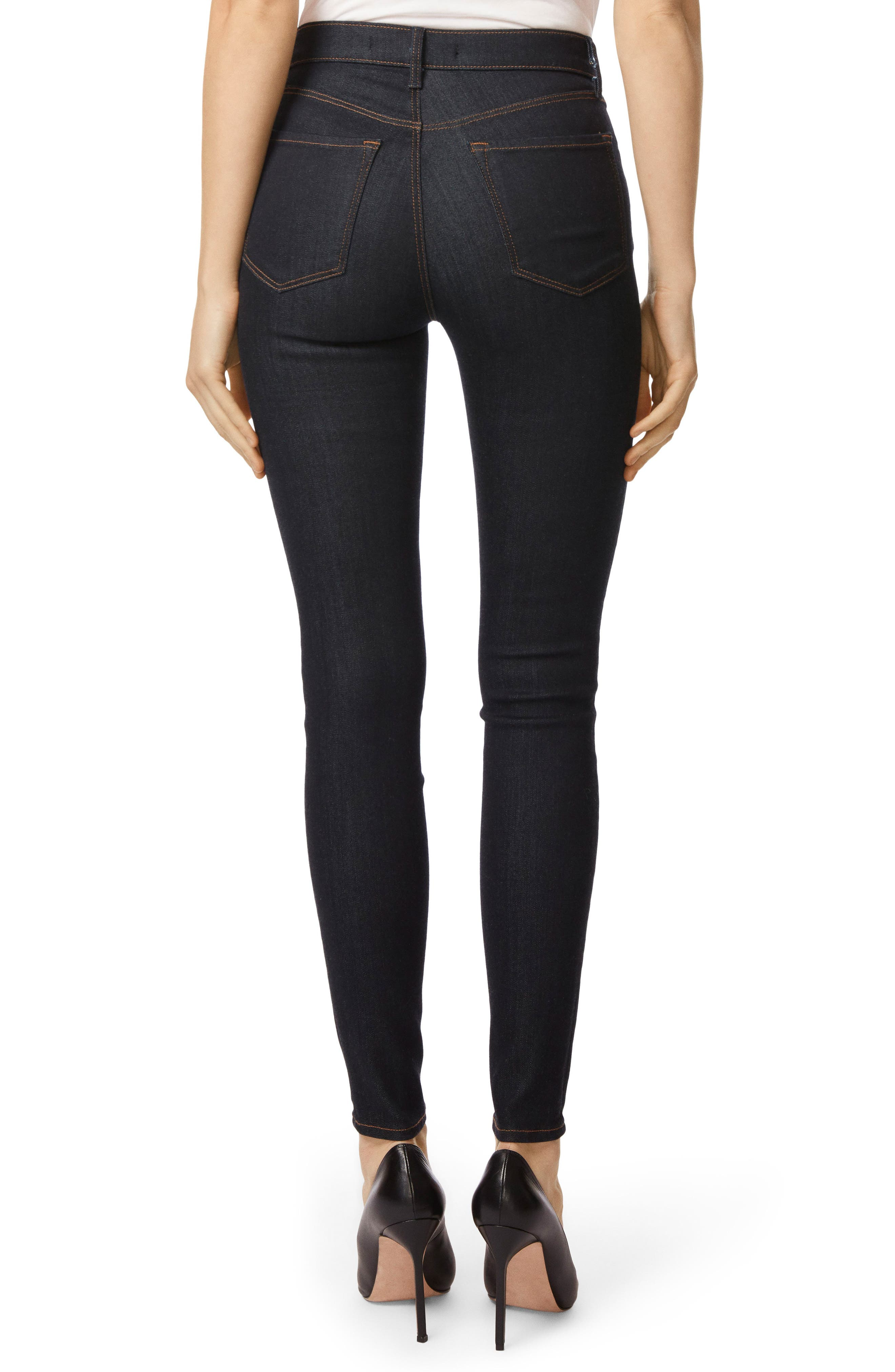 Maria High Waist Super Skinny Jeans,                             Alternate thumbnail 2, color,                             AFTER DARK