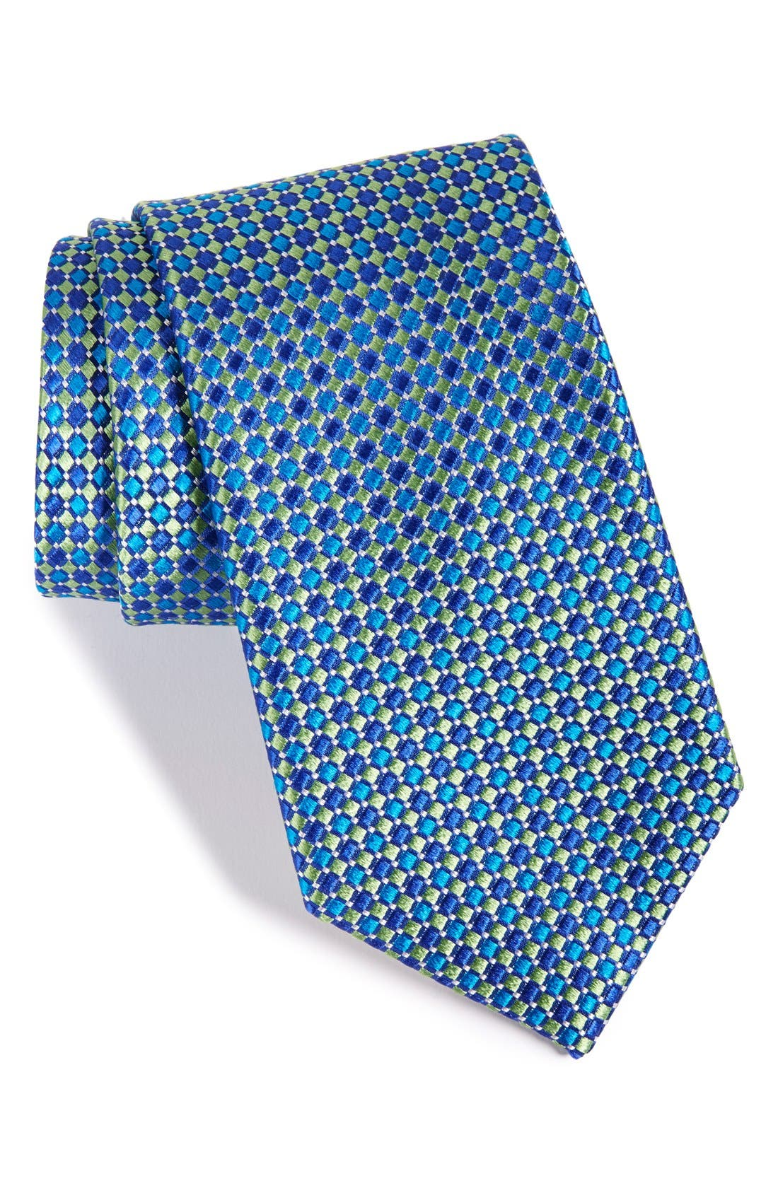 Geo Pattern Silk Tie,                             Main thumbnail 2, color,