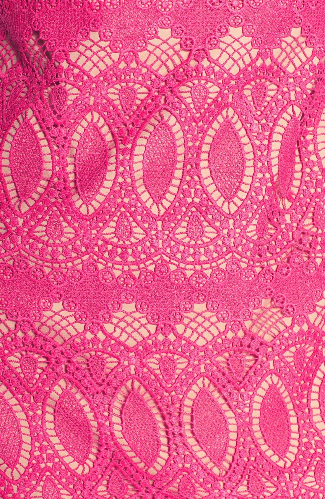Scalloped Lace Sheath Dress,                             Alternate thumbnail 7, color,                             660