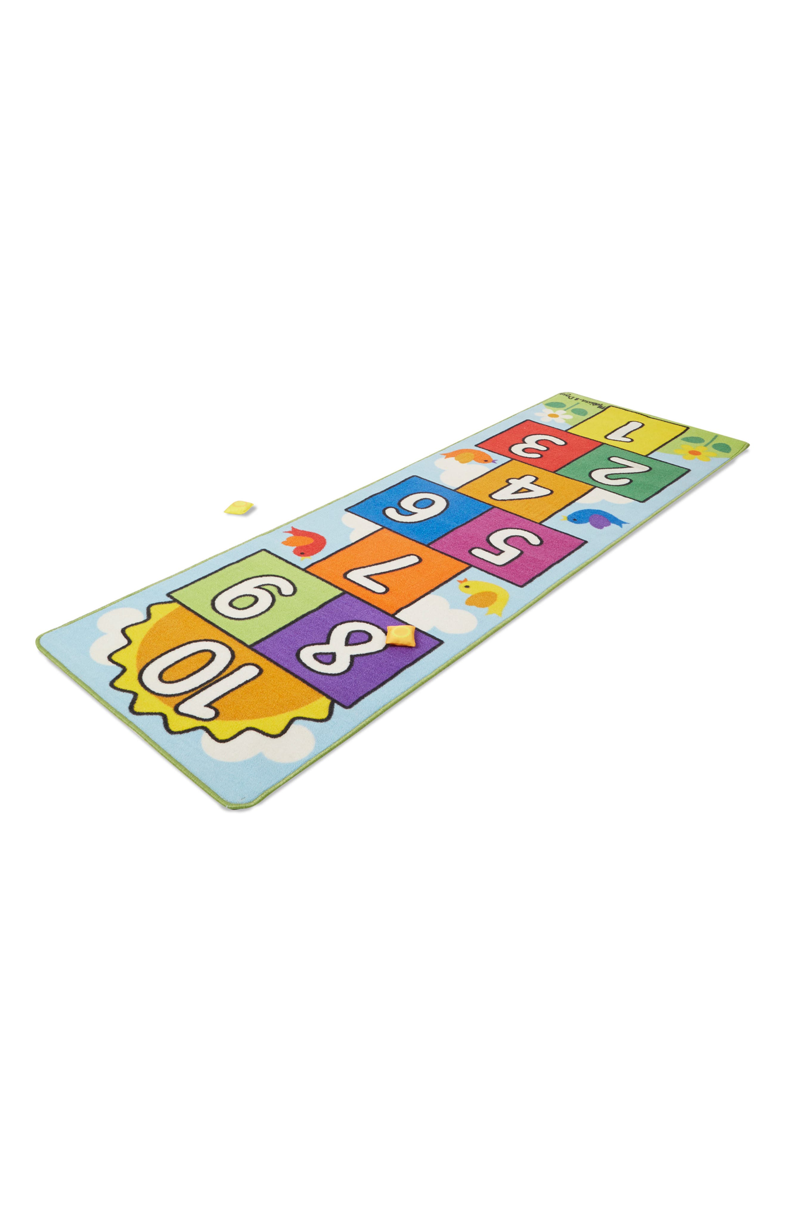 'Sunny Day' Hopscotch Rug,                             Alternate thumbnail 4, color,                             MULTI