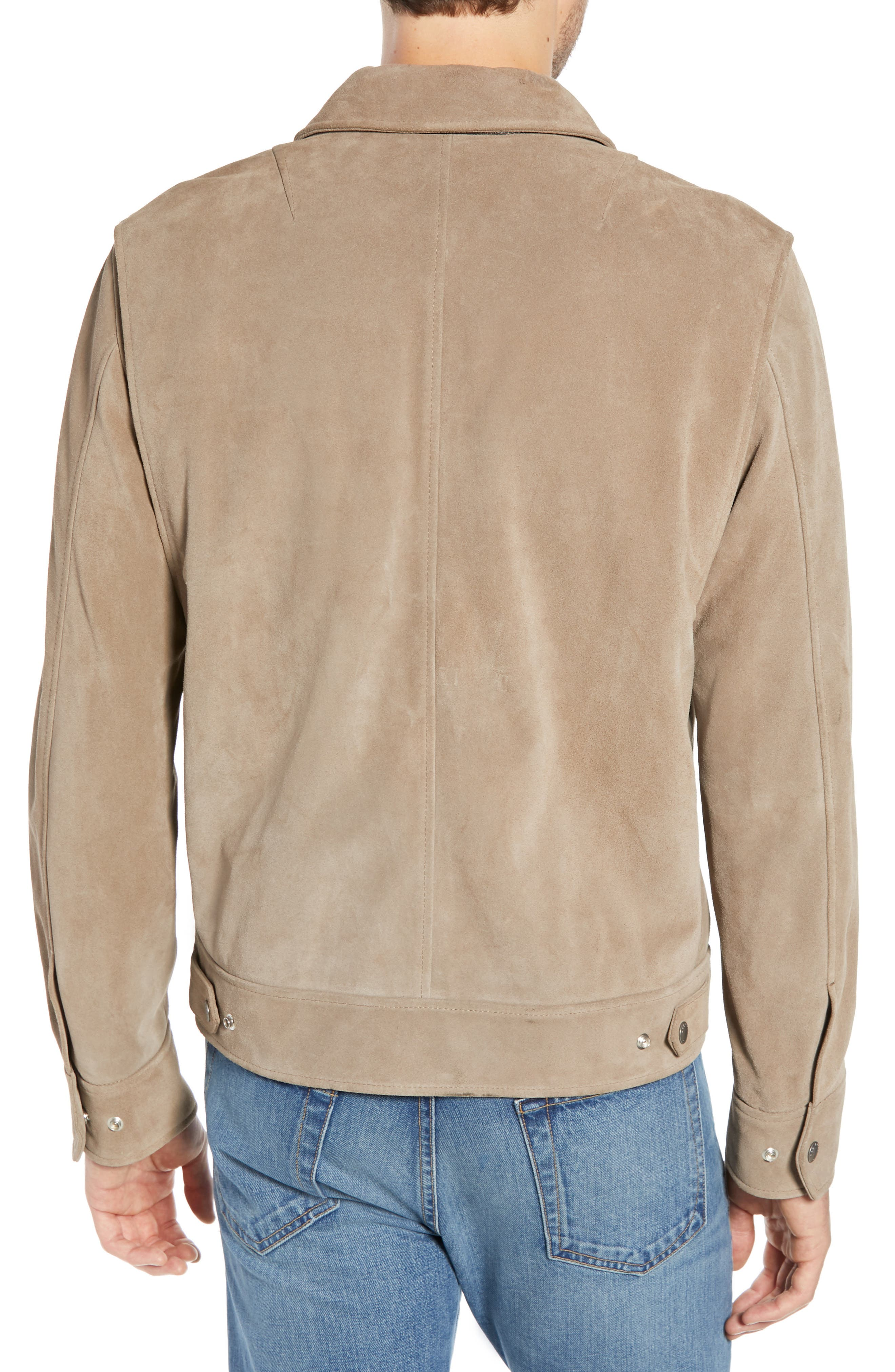 RAG & BONE,                             Regular Fit Suede Garage Jacket,                             Alternate thumbnail 2, color,                             CEMENT