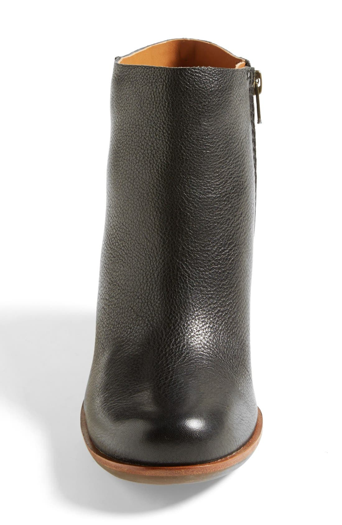 'Natalya' Burnished Leather Demi Wedge Boot,                             Alternate thumbnail 3, color,                             001