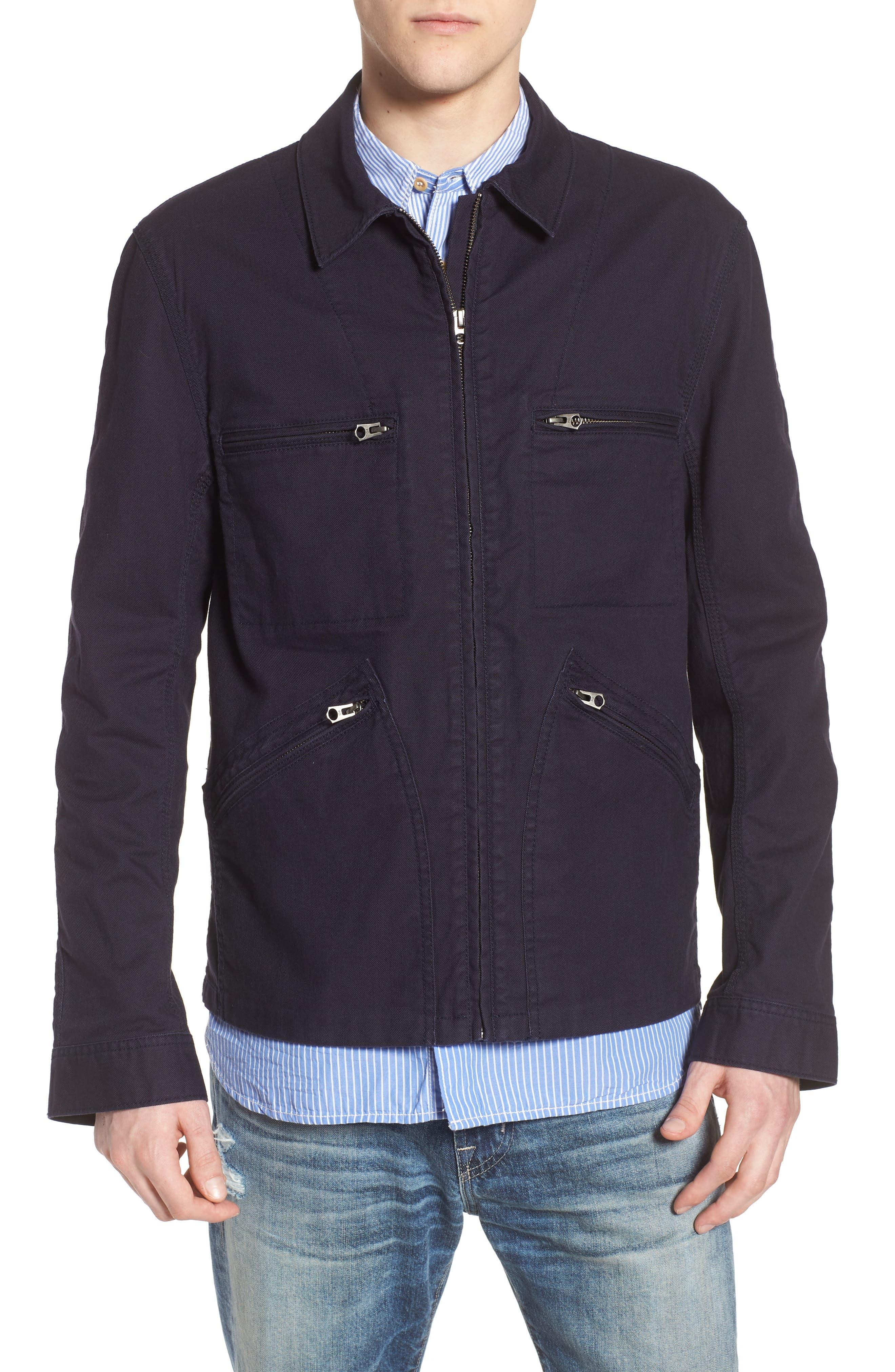 Slim Fit Slub Twill Cotton & Linen Jacket,                             Alternate thumbnail 4, color,                             001