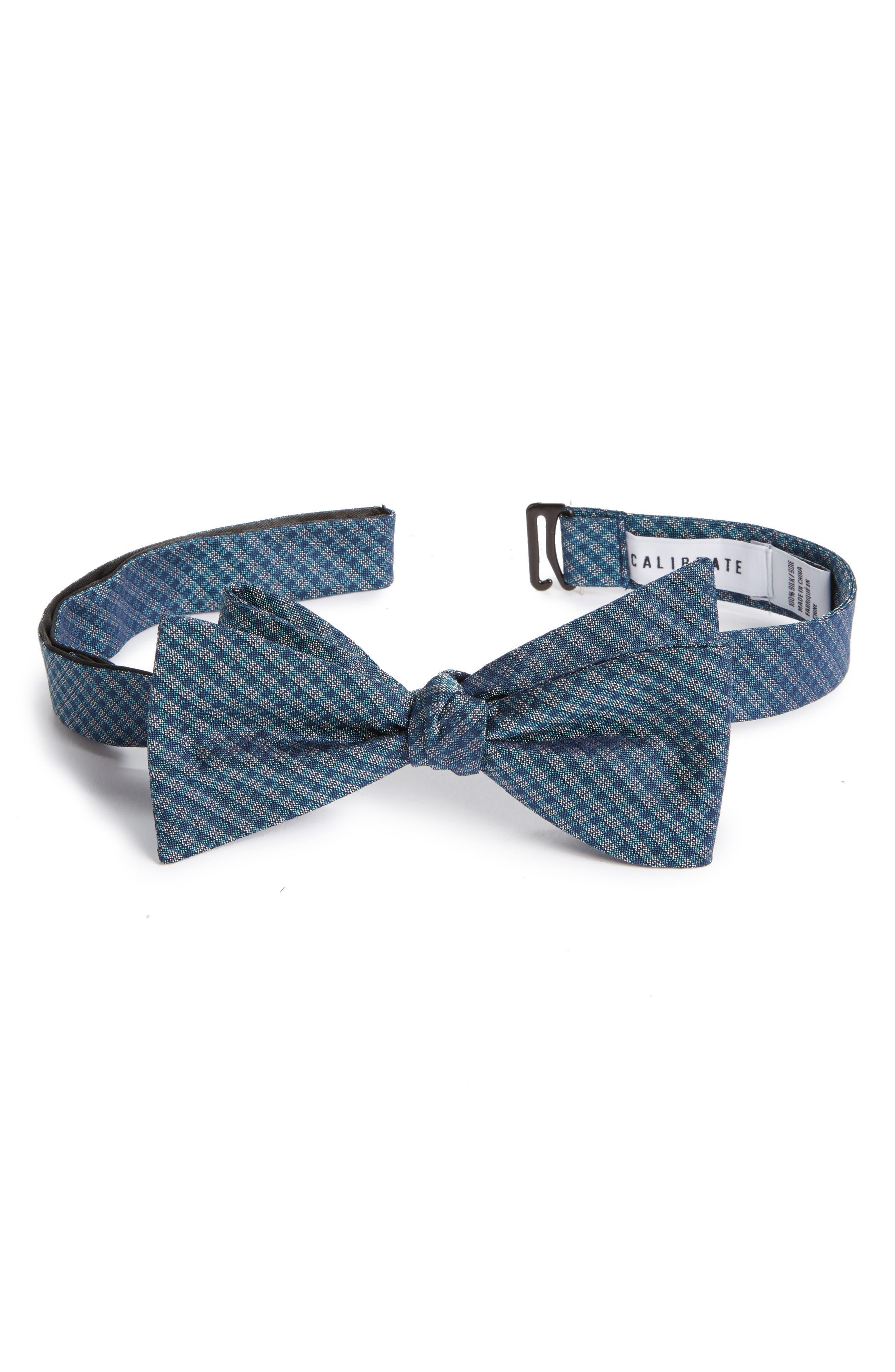 Check Silk Bow Tie,                             Alternate thumbnail 6, color,