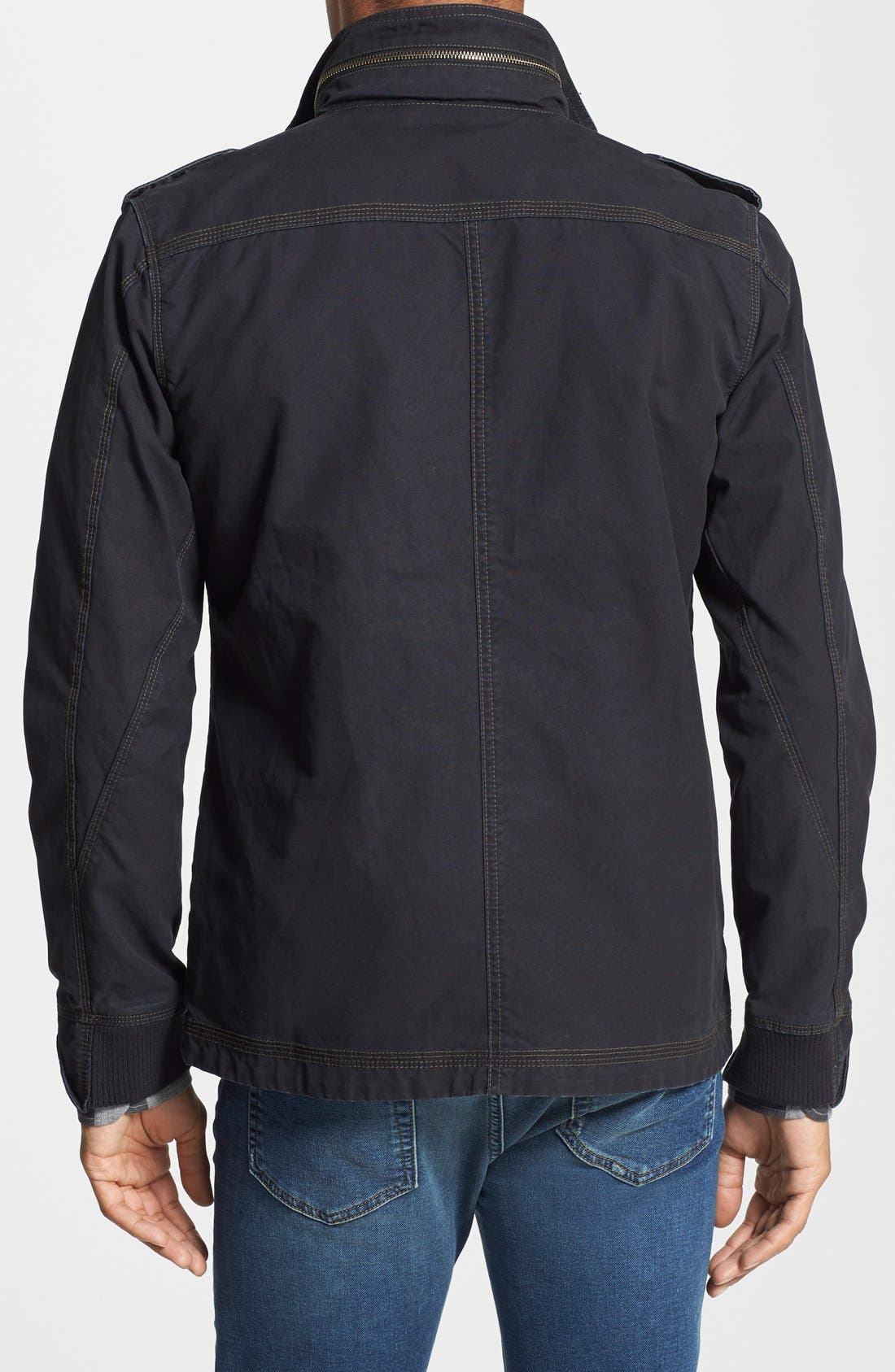 'Paxton' Military Jacket with Stowaway Hood,                             Alternate thumbnail 6, color,