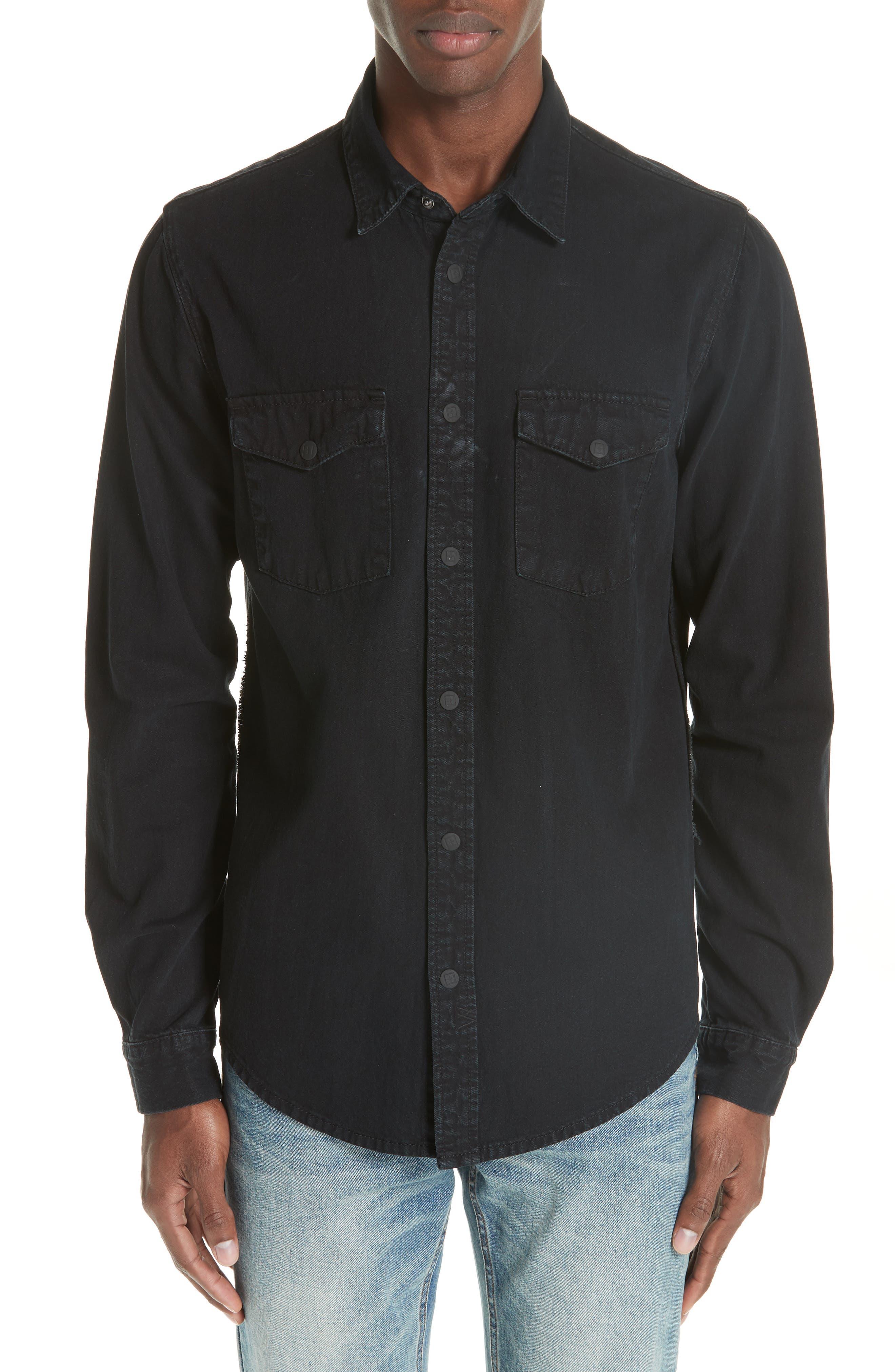 Frontier Work Shirt,                         Main,                         color, BLACK