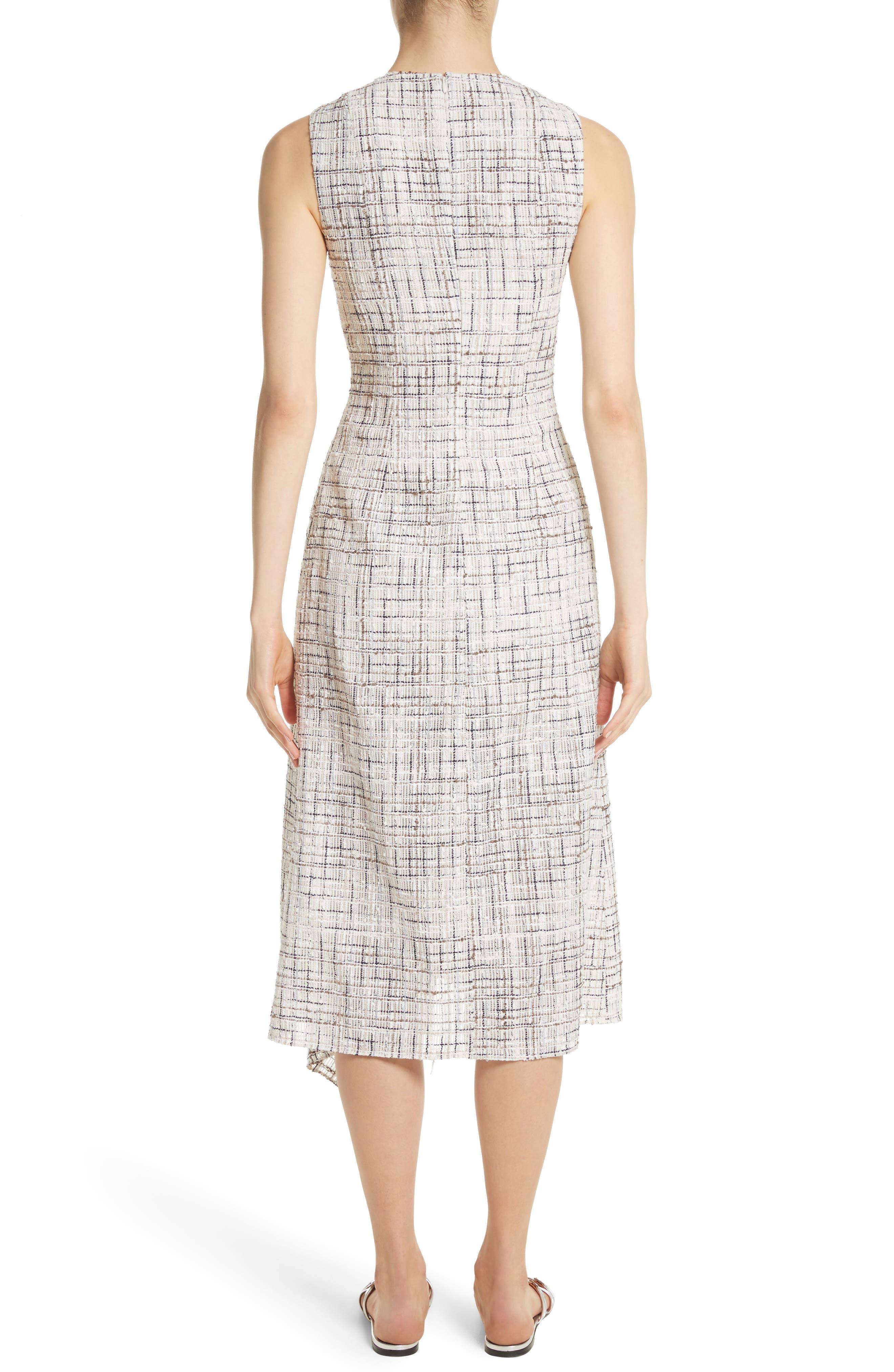 Draped Tweed Dress,                             Alternate thumbnail 2, color,
