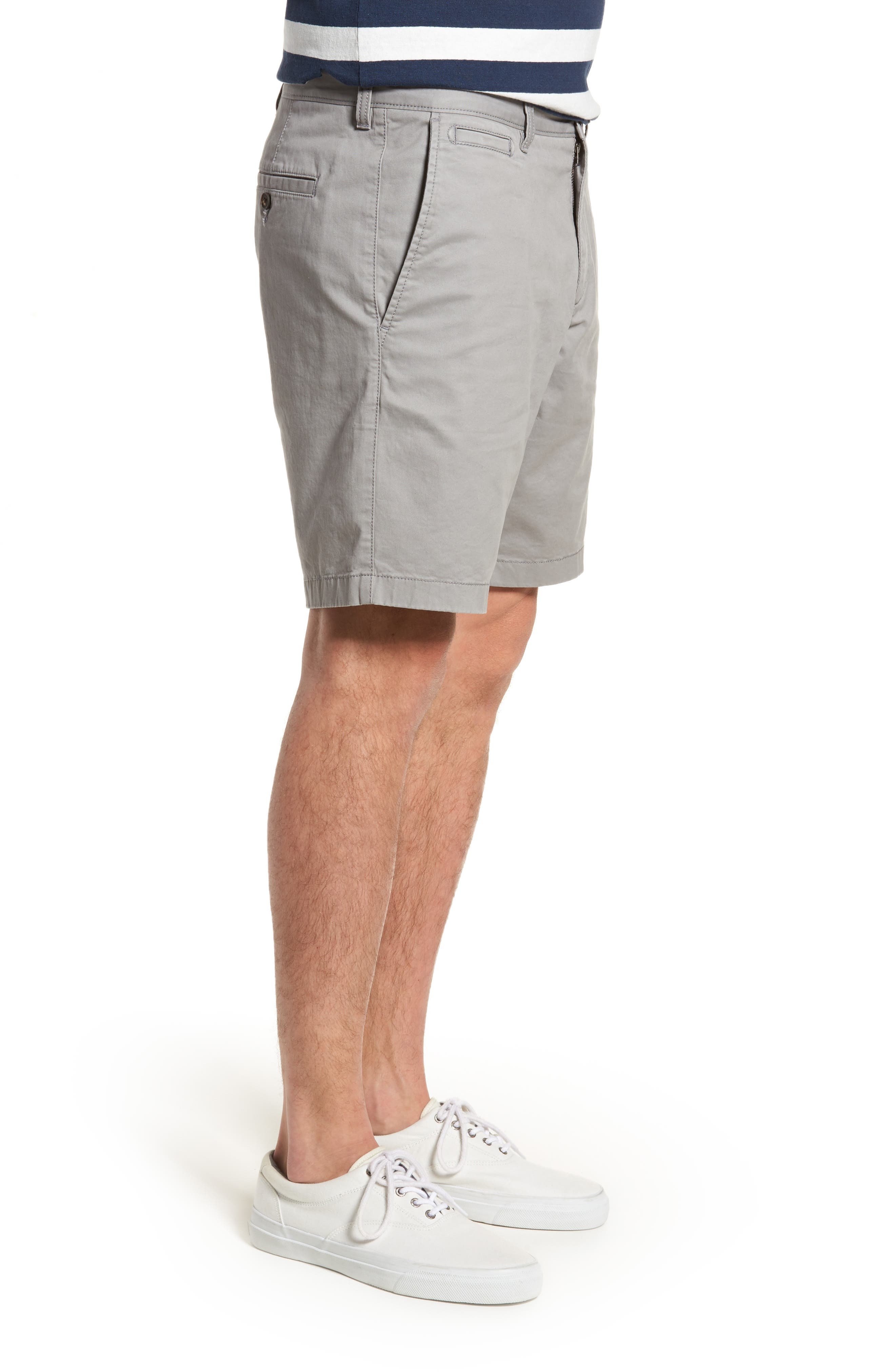 Ballard Slim Fit Stretch Chino 9-Inch Shorts,                             Alternate thumbnail 3, color,                             030