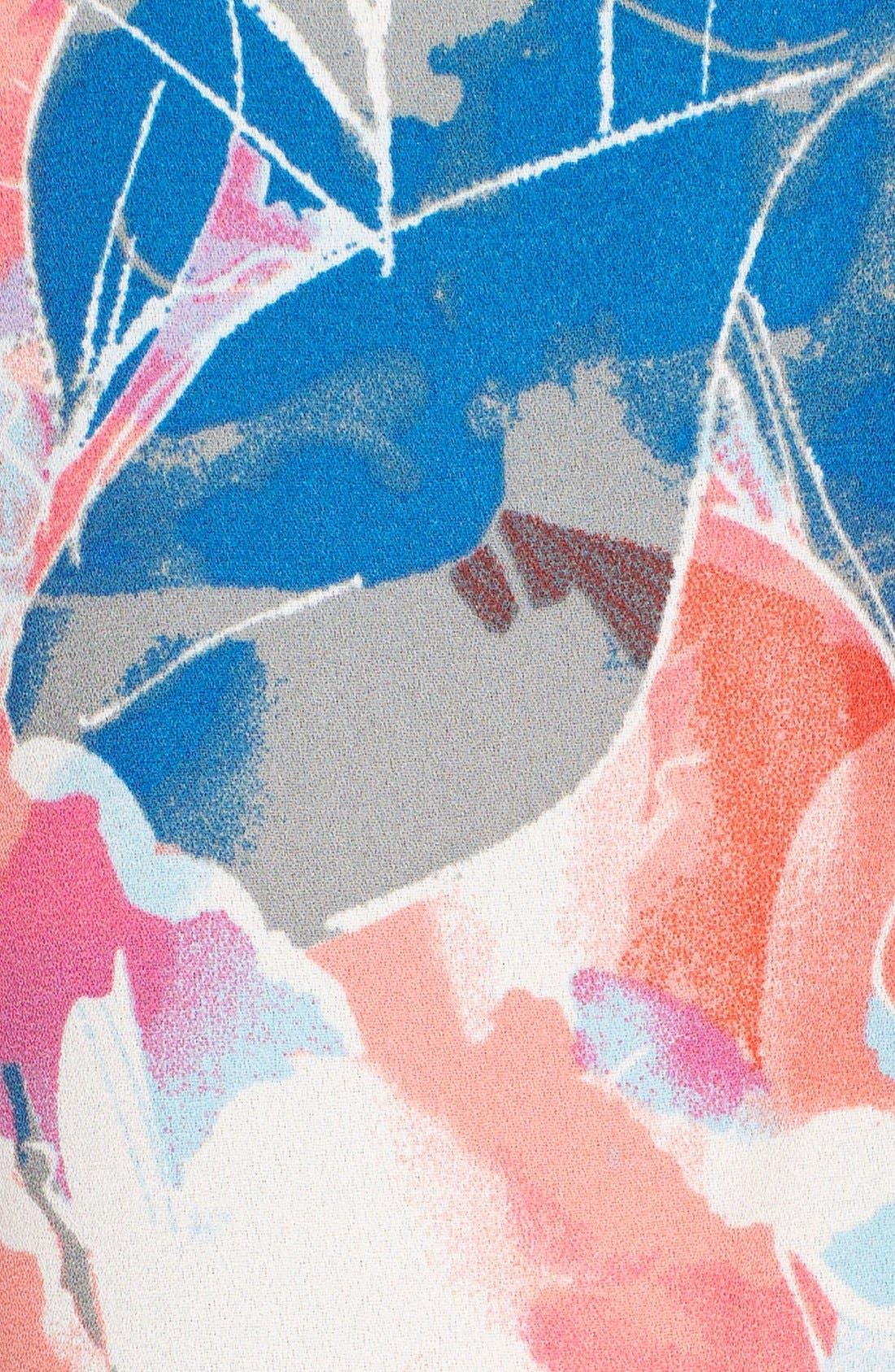 Pleat Back Sleeveless Split Neck Blouse,                             Alternate thumbnail 166, color,