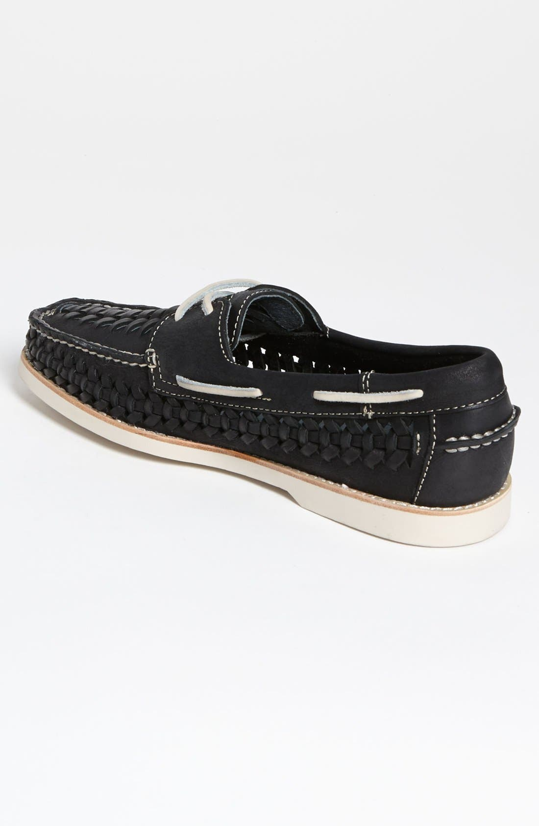 SPERRY,                             Top-Sider<sup>®</sup> 'Seaside' Woven Boat Shoe,                             Alternate thumbnail 4, color,                             001