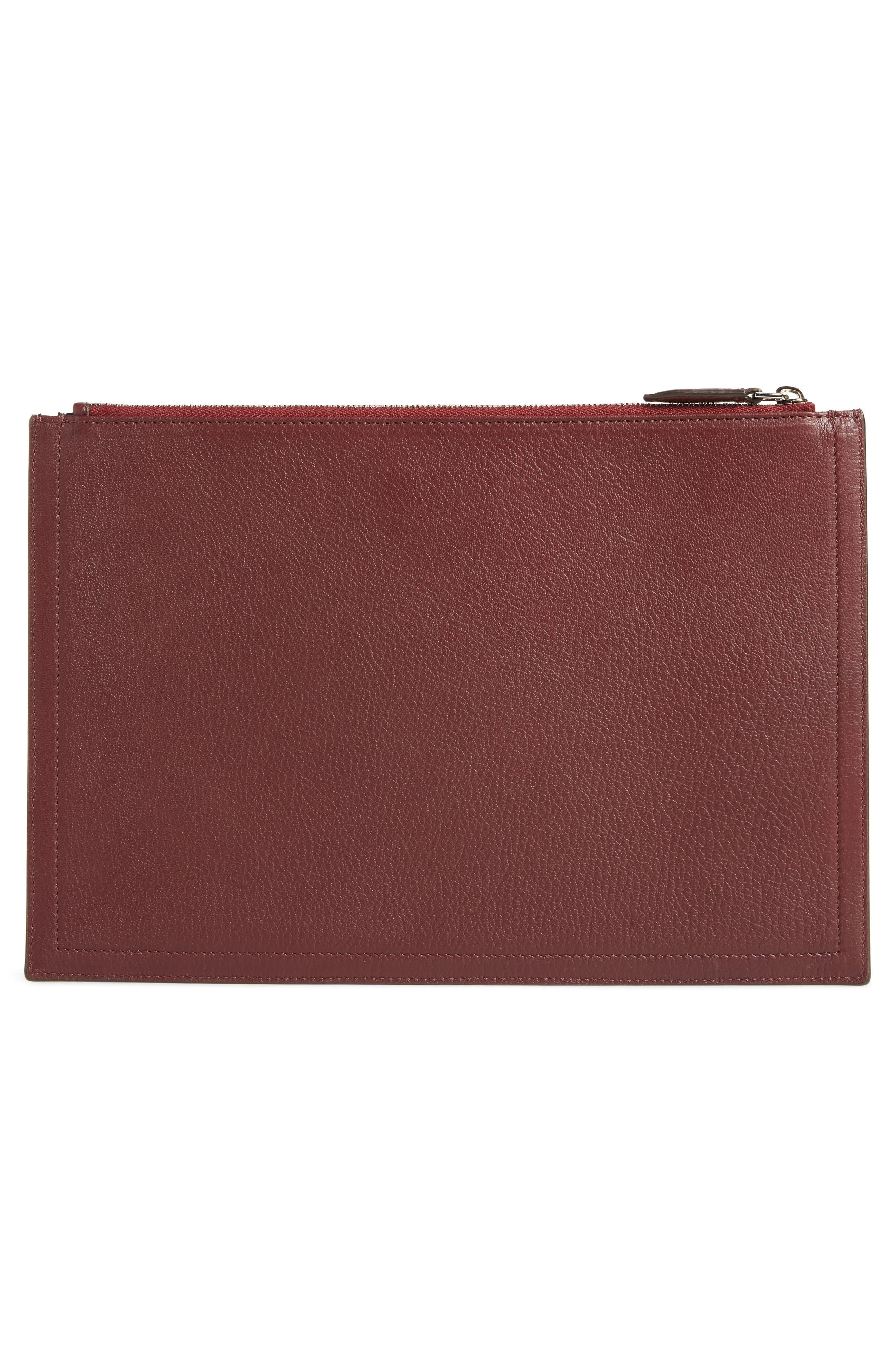 Medium Antigona Leather Pouch,                             Alternate thumbnail 3, color,                             AUBERGINE