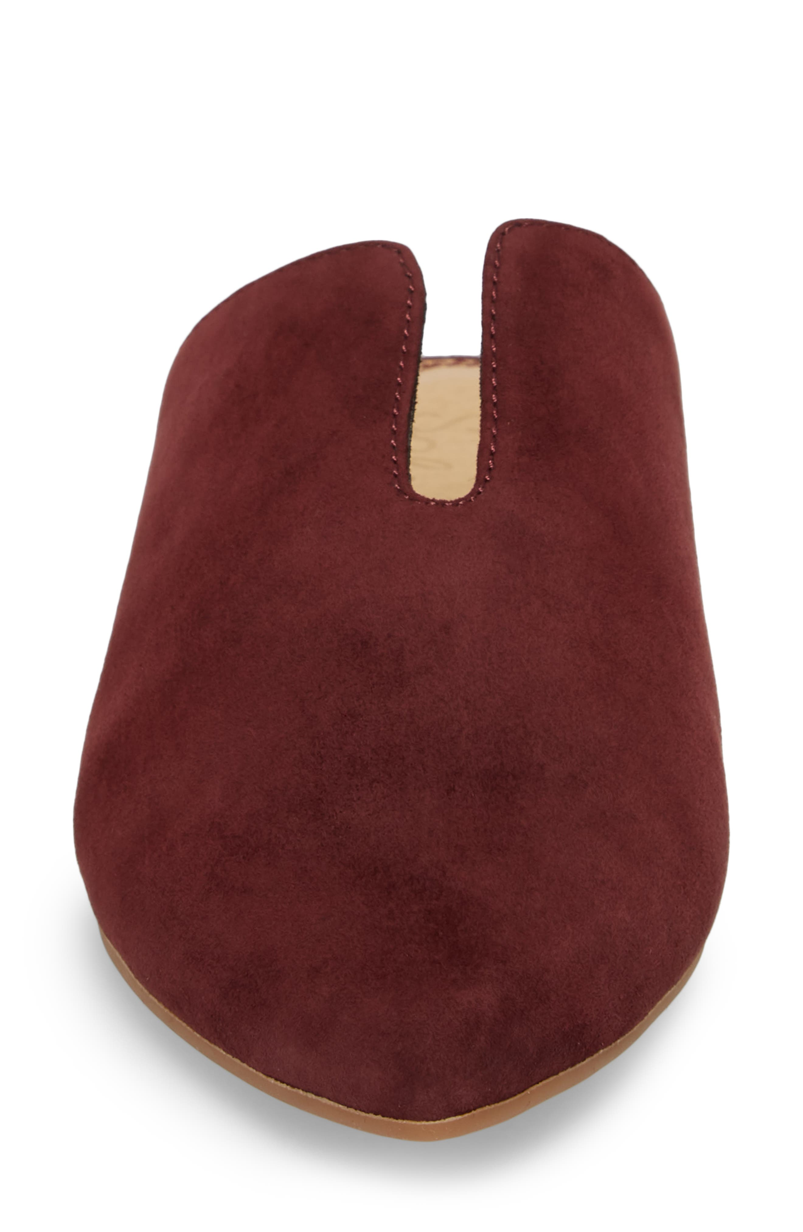 Nieves Mule,                             Alternate thumbnail 4, color,                             DEEP PLUM SUEDE