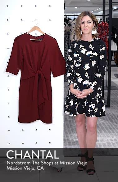 Tie Front Crepe Dress, sales video thumbnail