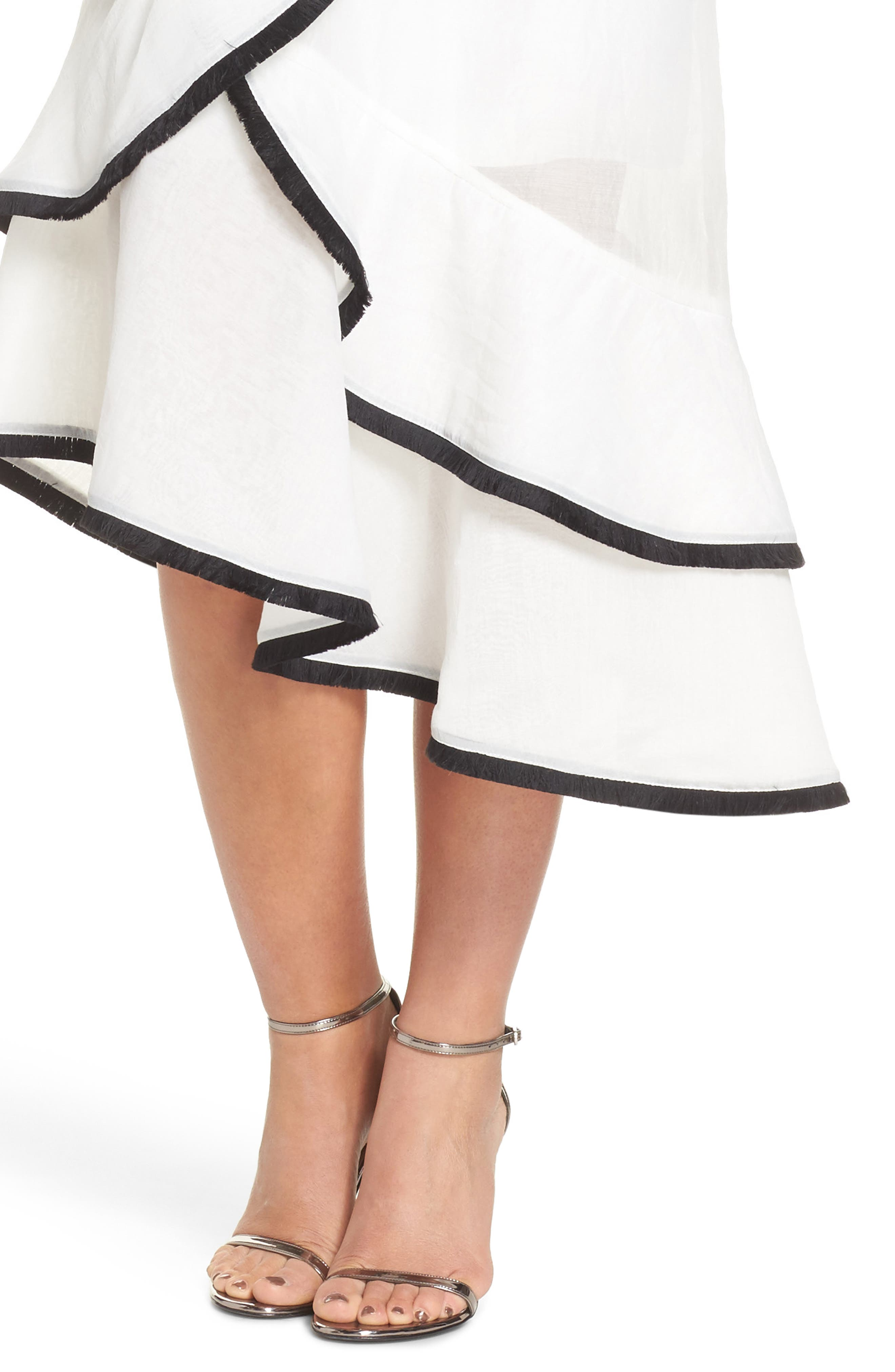 My Everything One-Shoulder Asymmetric Dress,                             Alternate thumbnail 4, color,                             IVORY