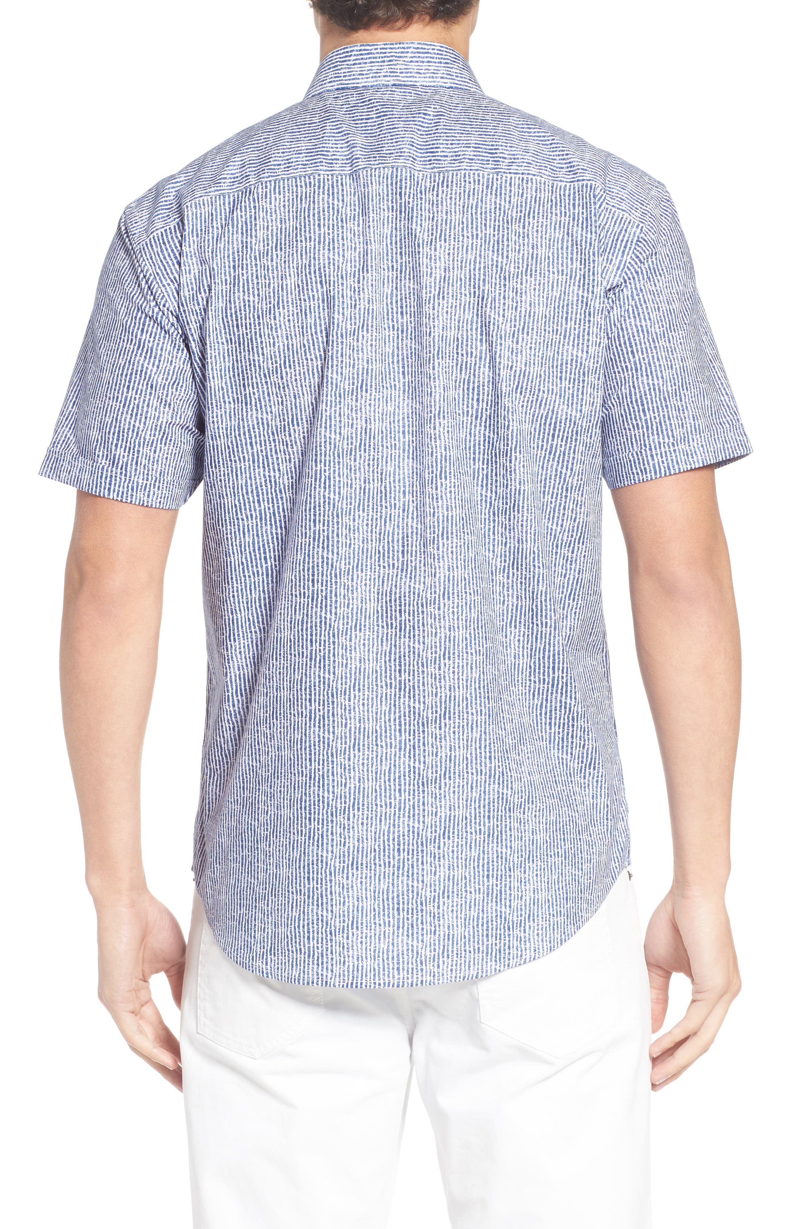 Shaped Fit Stripe Sport Shirt,                             Alternate thumbnail 13, color,