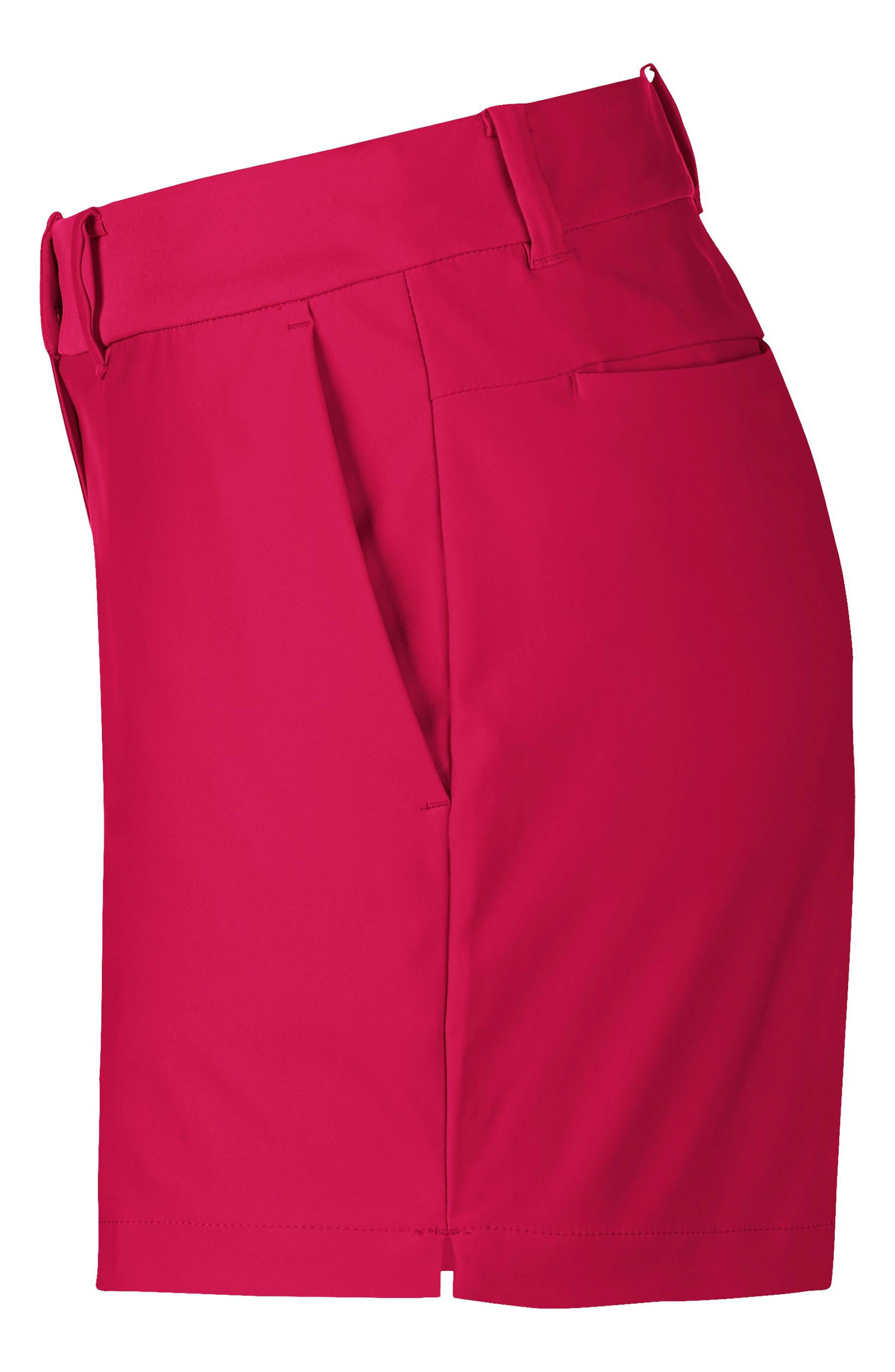 Flex Golf Shorts,                             Alternate thumbnail 3, color,                             RUSH PINK/ RUSH PINK