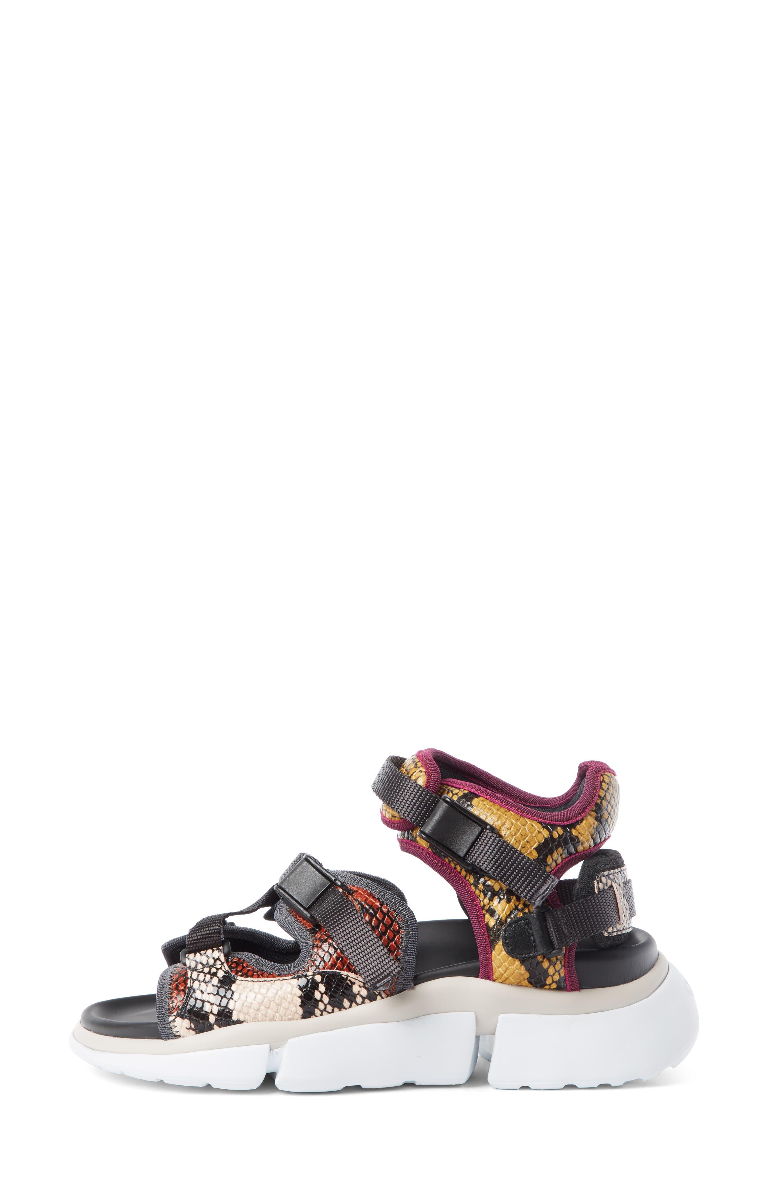 Sonnie Sporty Sandal,                             Alternate thumbnail 3, color,                             SEPTEMBER SUN LEATHER