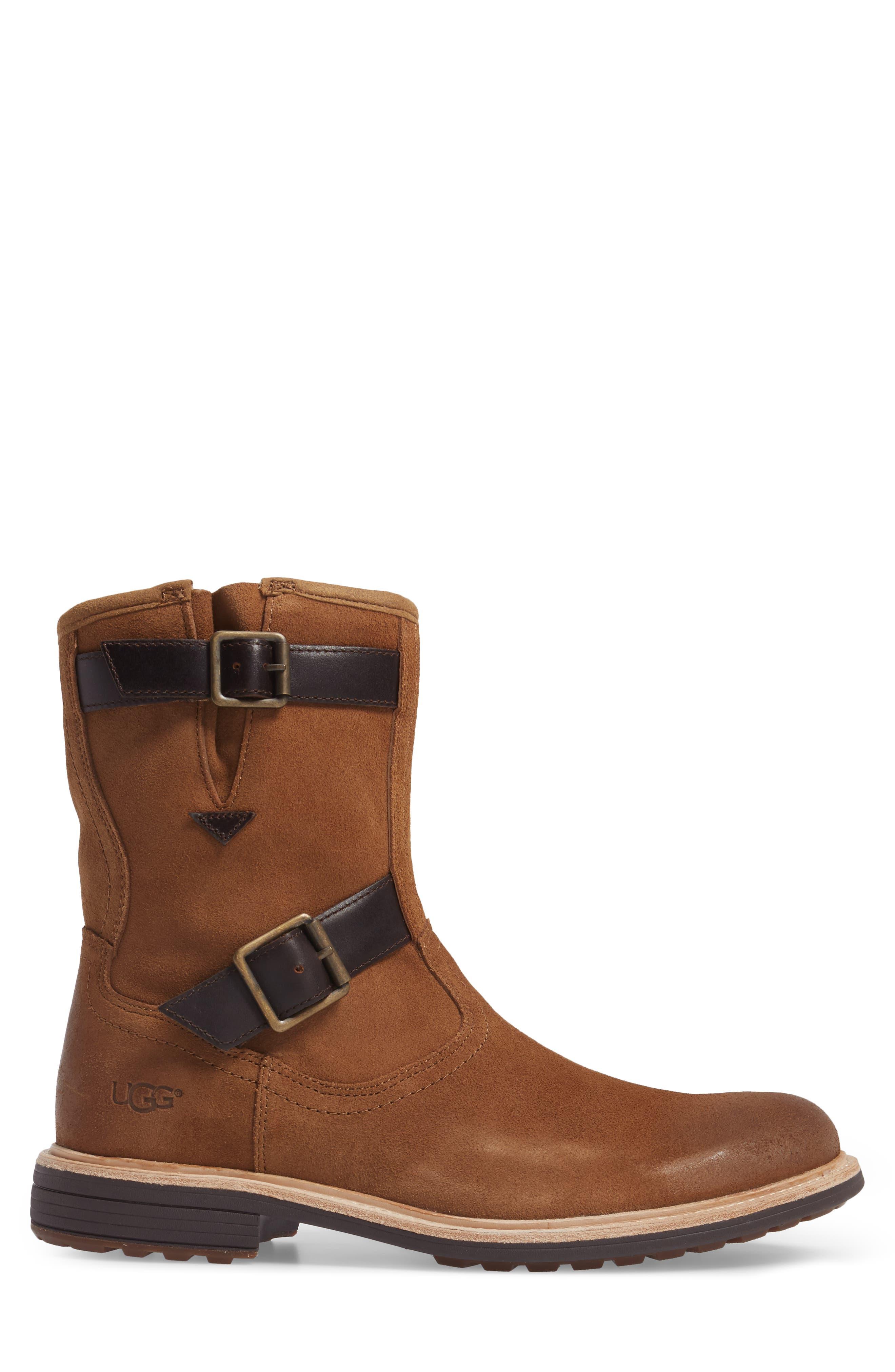 Jaren Zip Boot with Genuine Shearling,                             Alternate thumbnail 6, color,