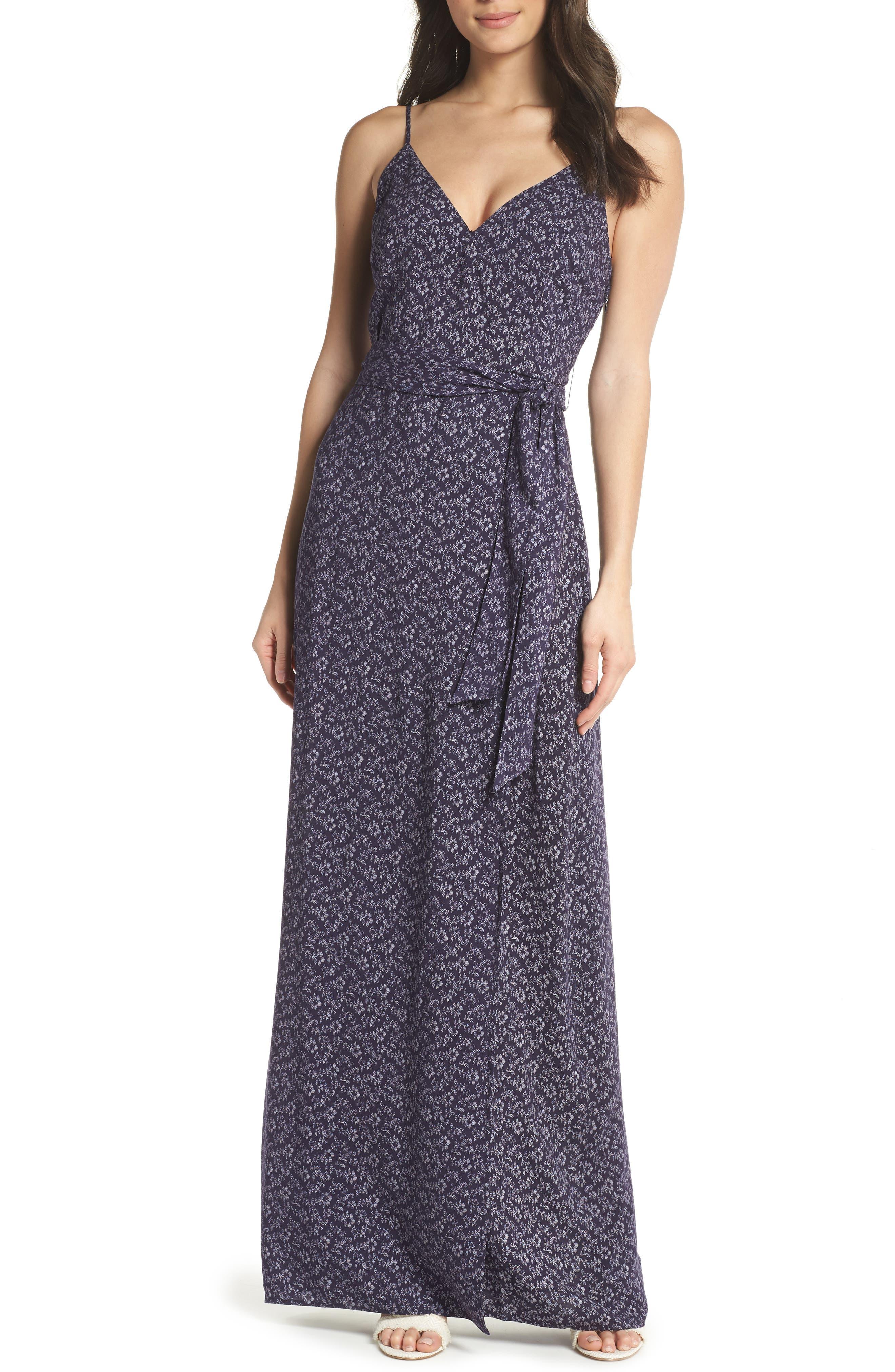 Regina Floral Print Maxi Dress,                             Main thumbnail 1, color,                             400