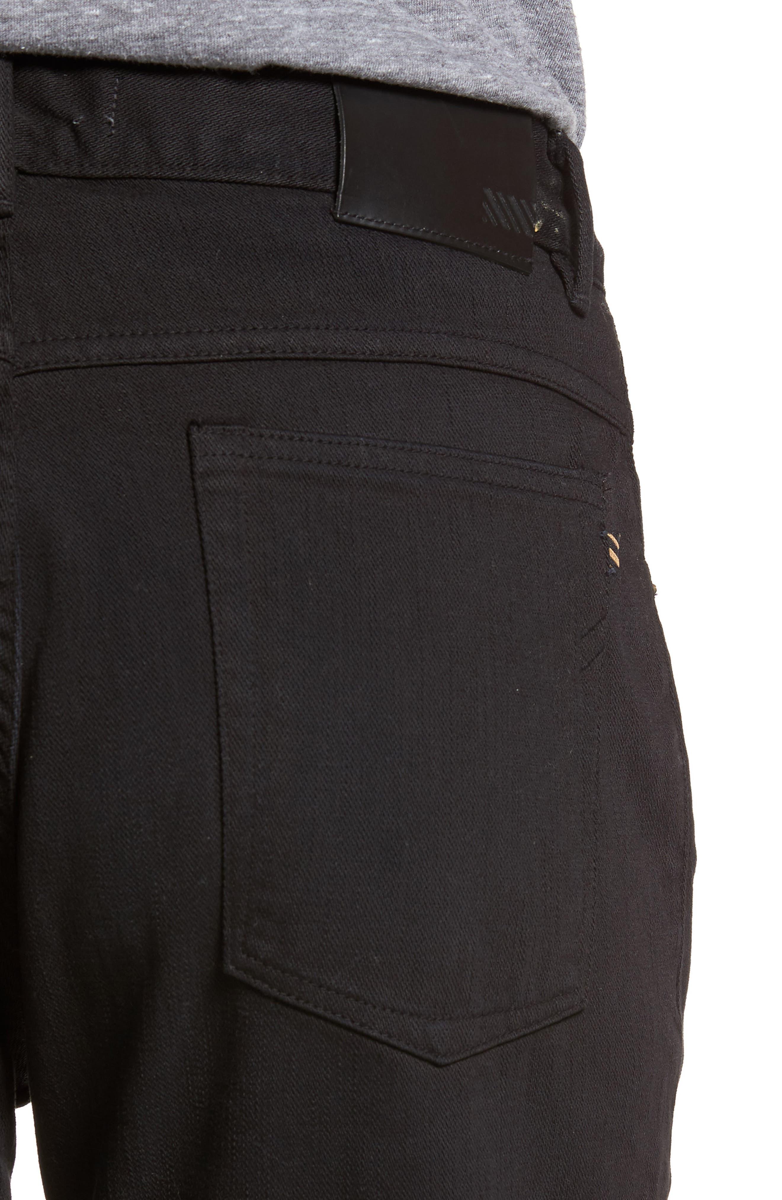 Slim Straight Leg Pants,                             Alternate thumbnail 4, color,                             001