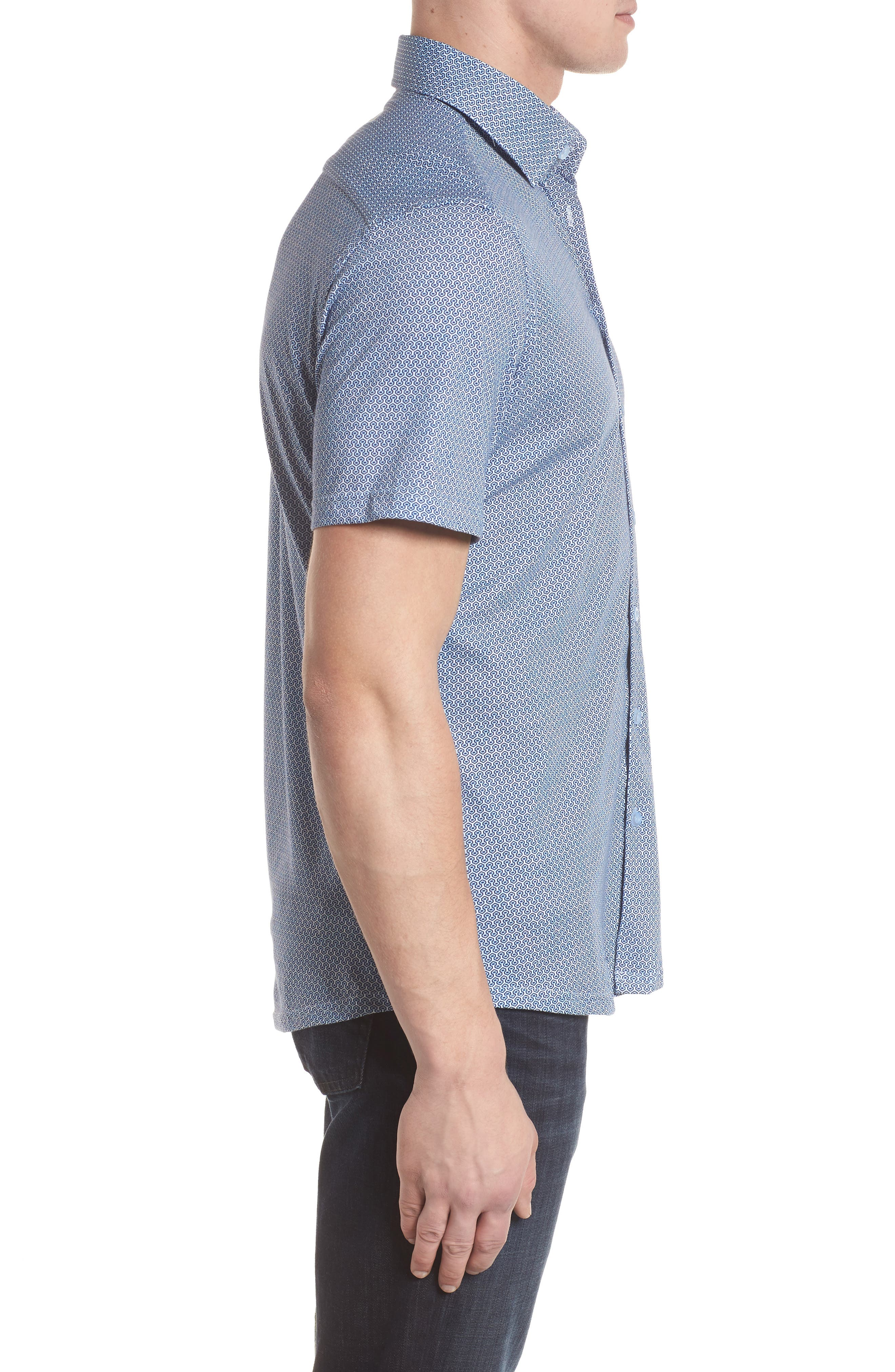 Knit Sport Shirt,                             Alternate thumbnail 3, color,                             400