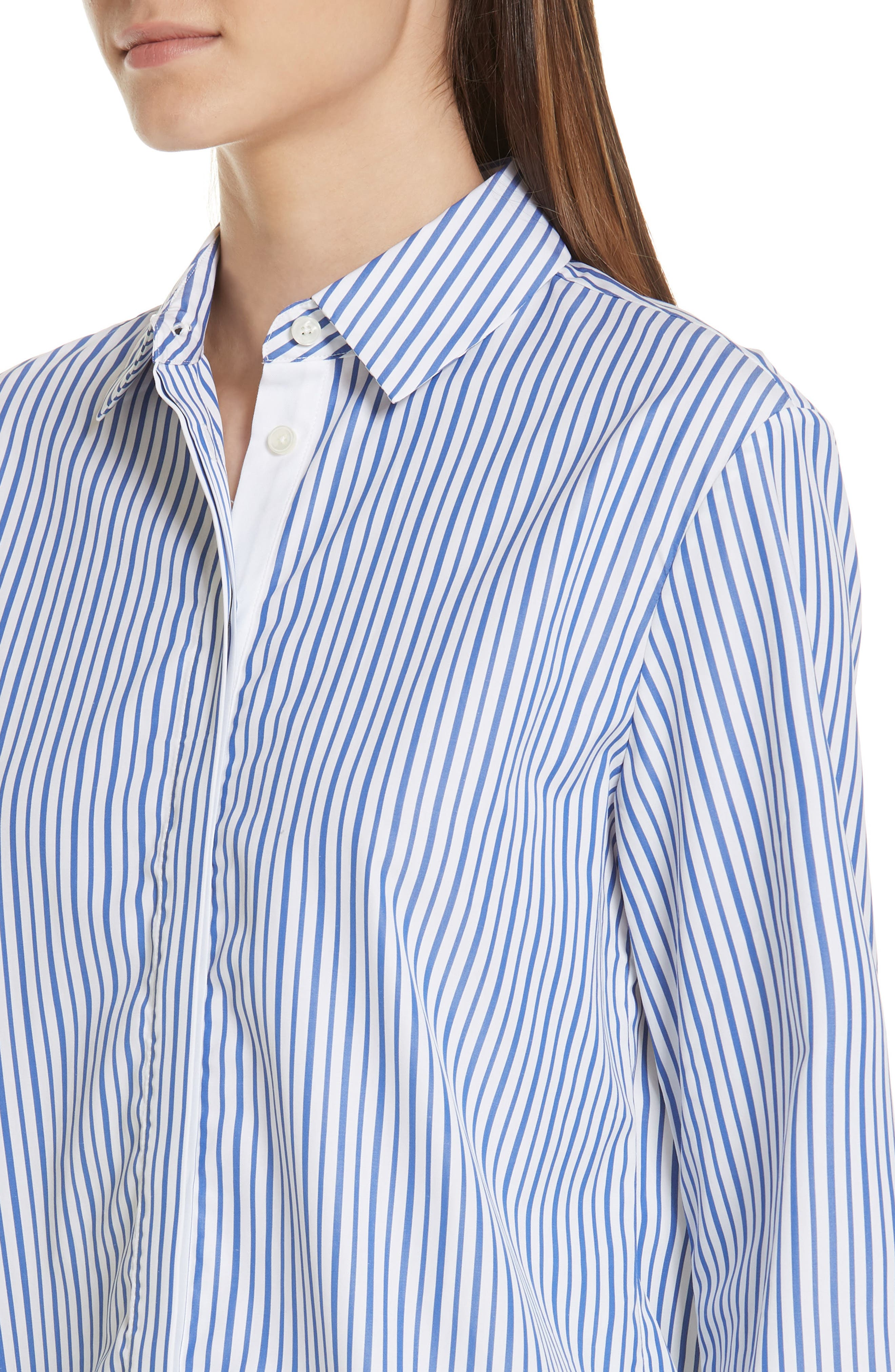 Bleu Man Shirt,                             Alternate thumbnail 4, color,                             BLUE AND WHITE STRIPES