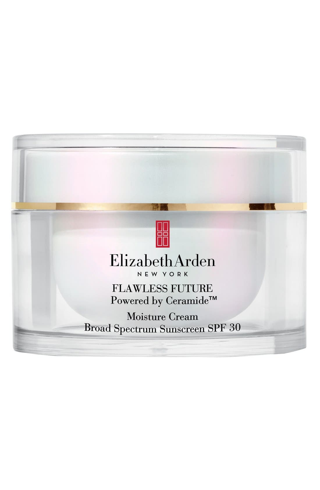 FLAWLESS FUTURE Powered by Ceramide<sup>™</sup> Moisture Cream Broad Spectrum Sunscreen SPF 30,                         Main,                         color, NO COLOR