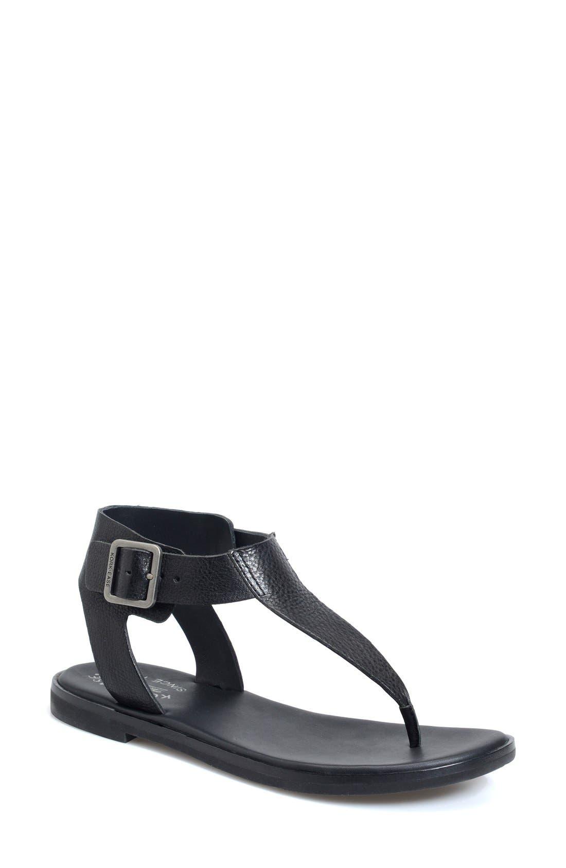 'Catriona' Flat Sandal,                             Main thumbnail 1, color,                             001
