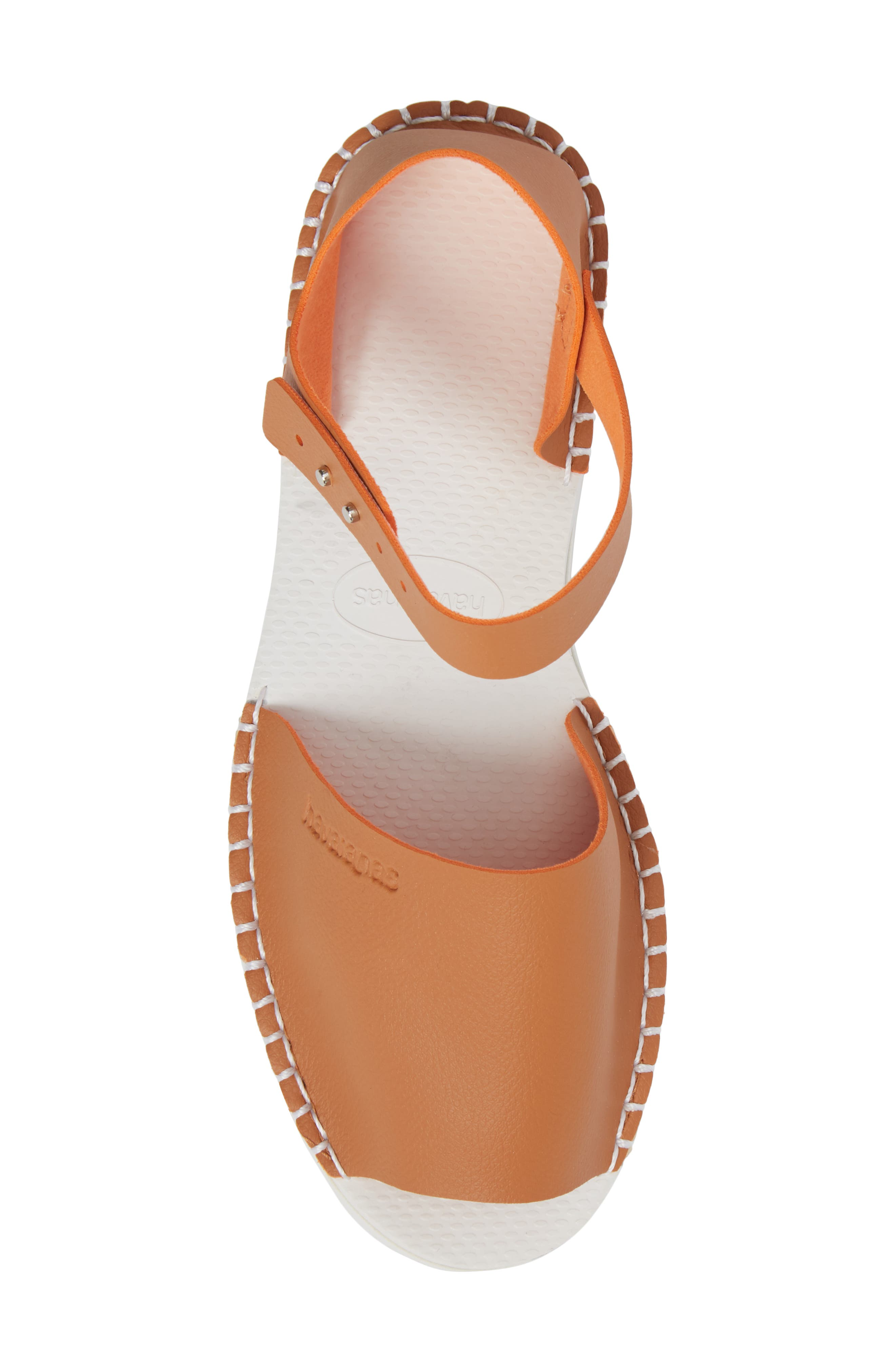 Flatform Fashion Sandal,                             Alternate thumbnail 5, color,                             CAMEL