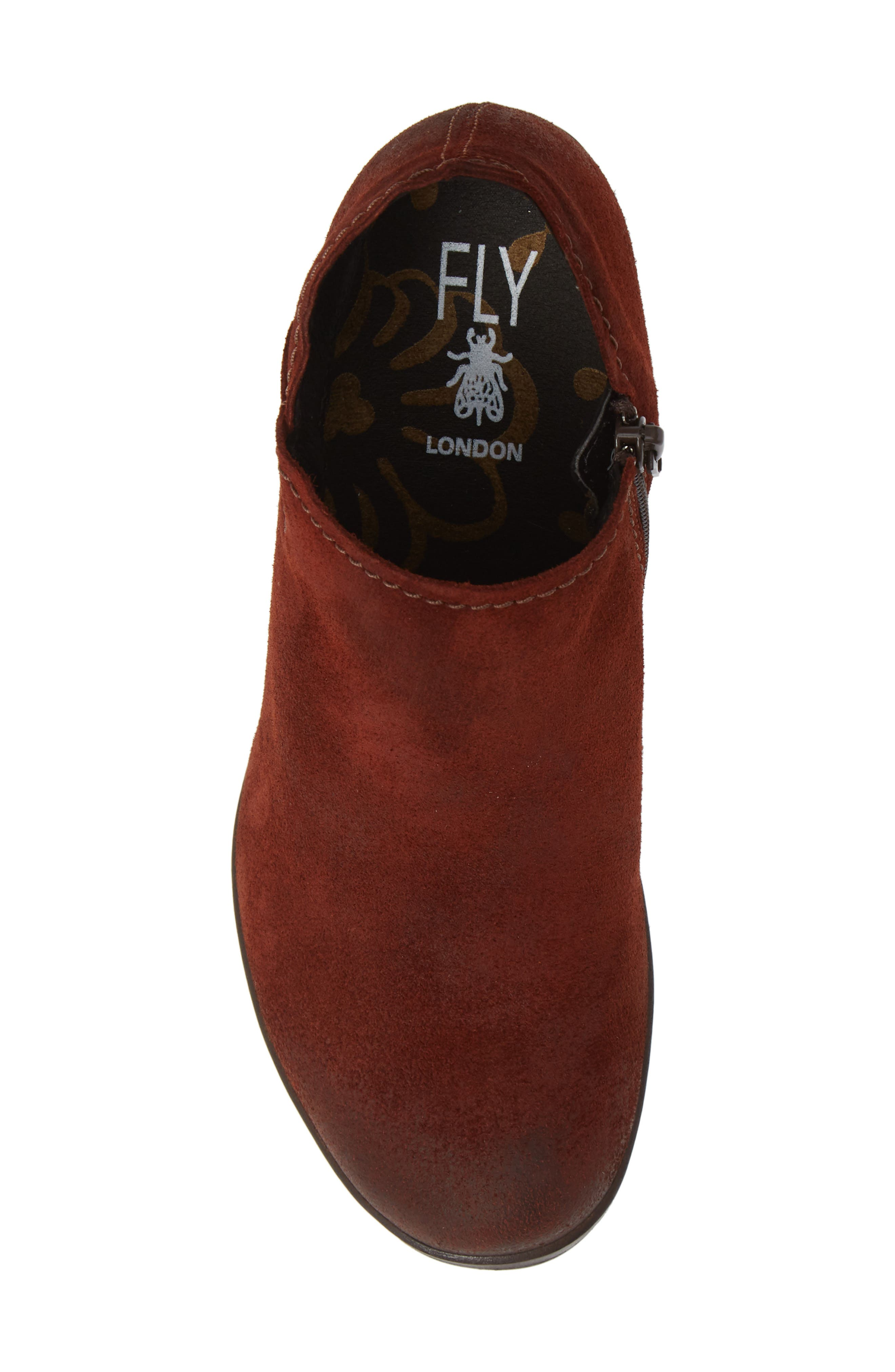 FLY LONDON,                             Hace Bootie,                             Alternate thumbnail 5, color,                             BRICK OIL SUEDE
