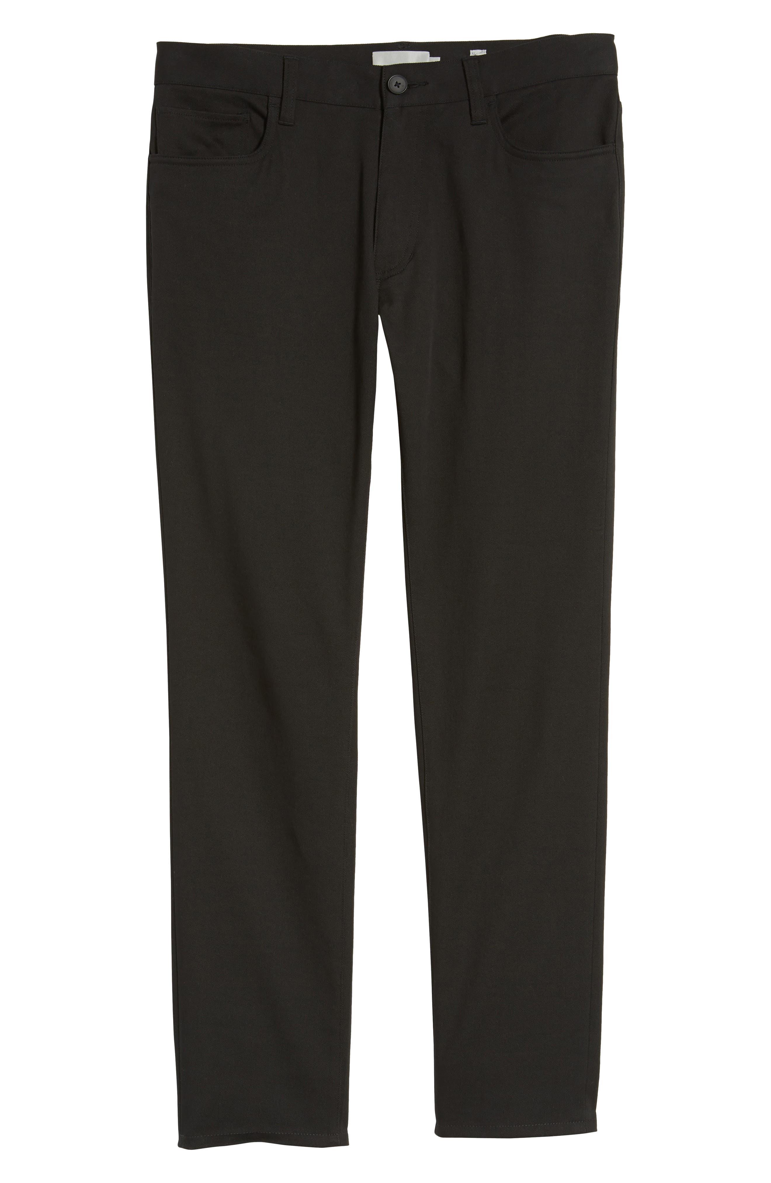 Skinny Slim Fit Pants,                             Alternate thumbnail 6, color,                             001
