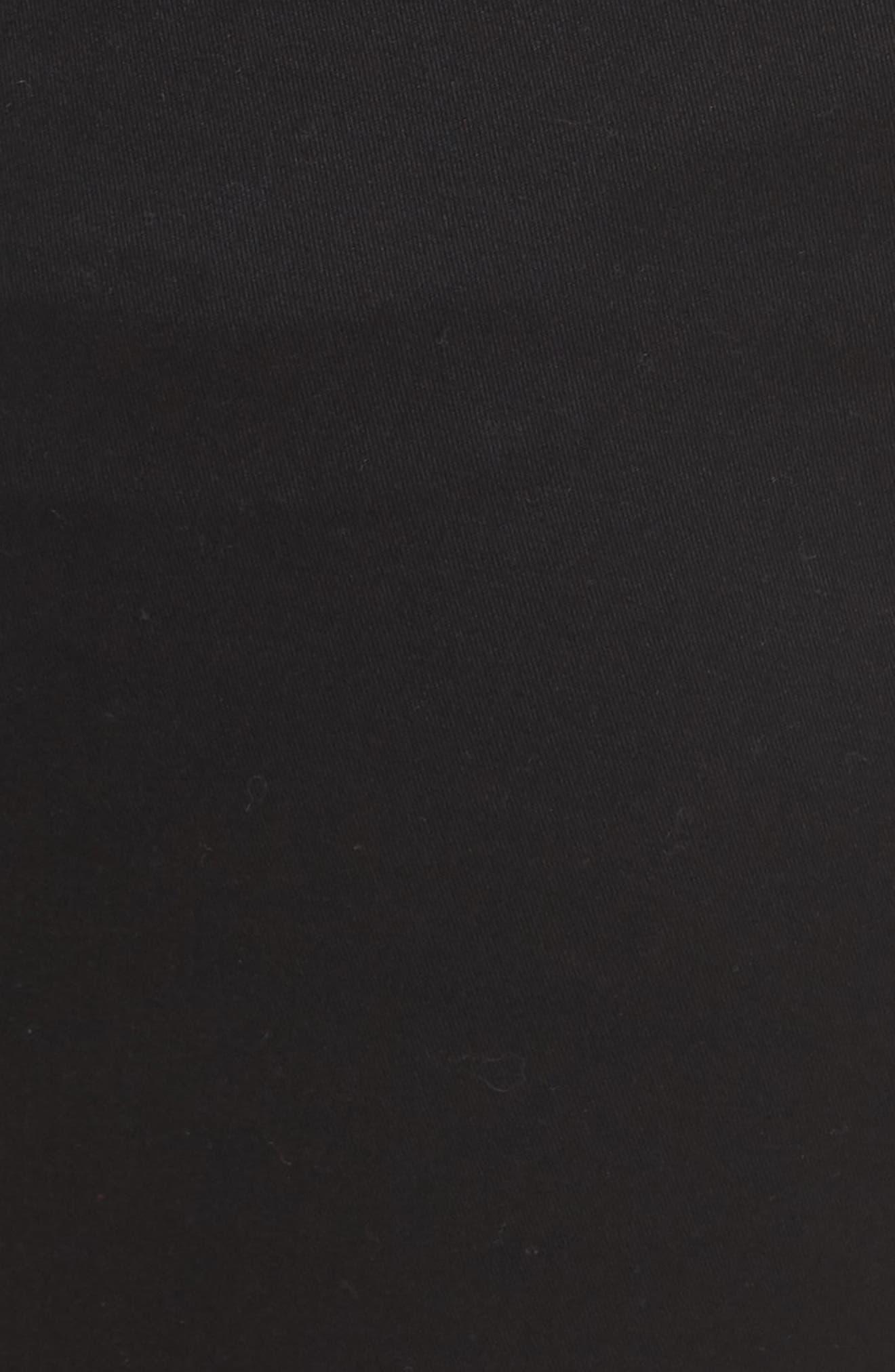 Gracie Stretch Cotton Shorts,                             Alternate thumbnail 5, color,                             BLACK
