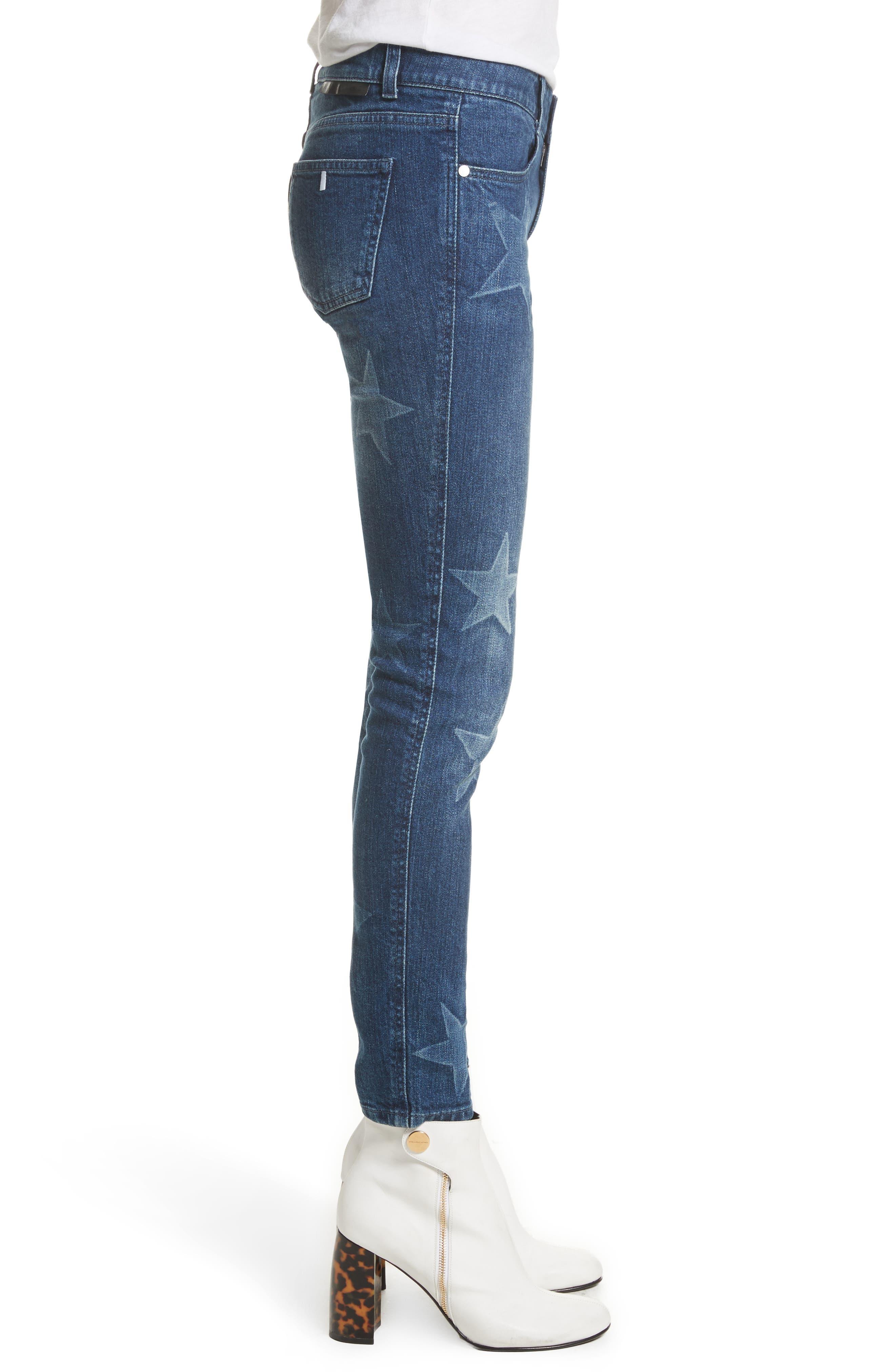 Skinny Ankle Grazer Star Jeans,                             Alternate thumbnail 3, color,                             430