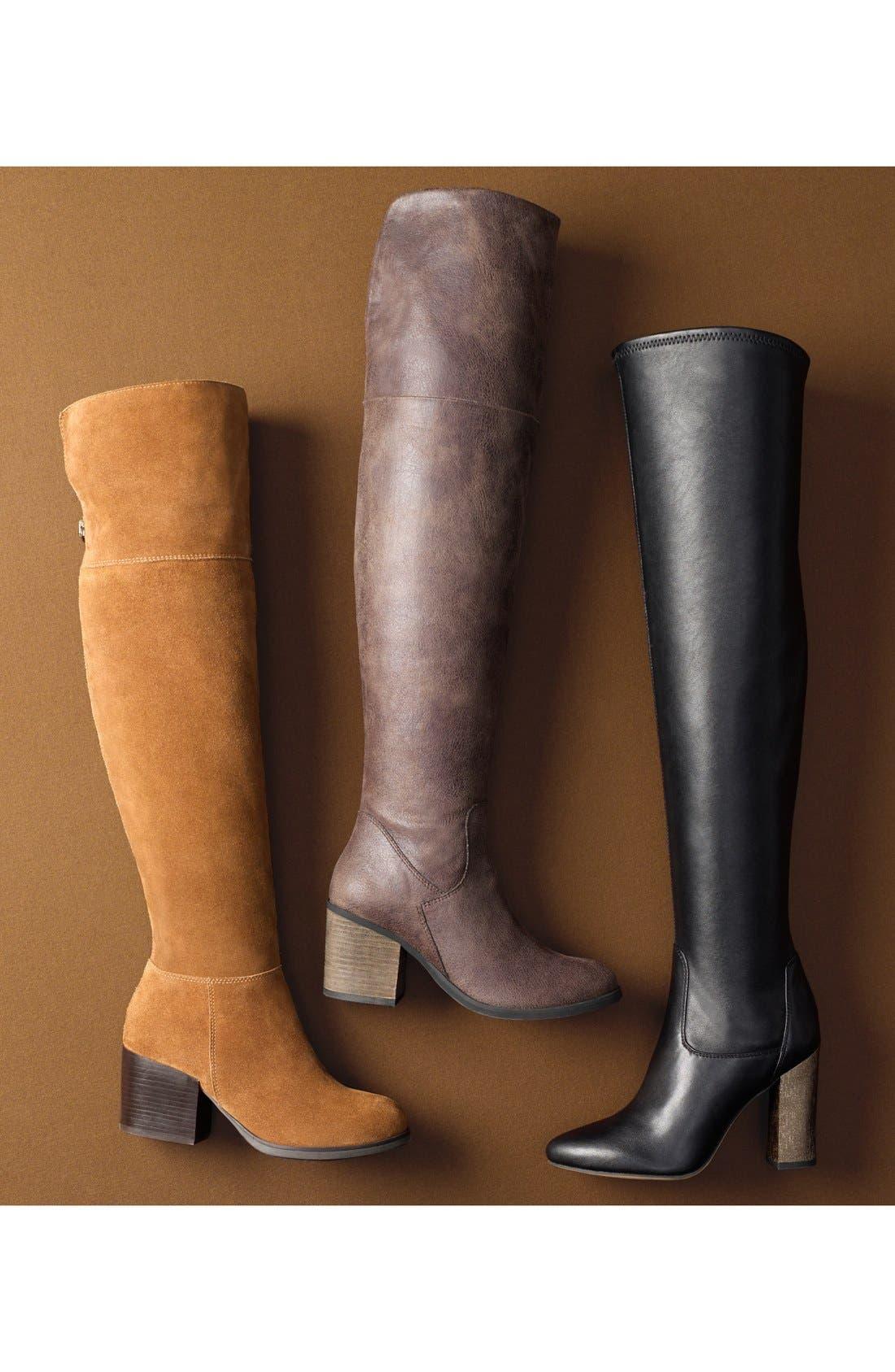 'Orabela' Knee High Boot,                             Alternate thumbnail 5, color,                             006