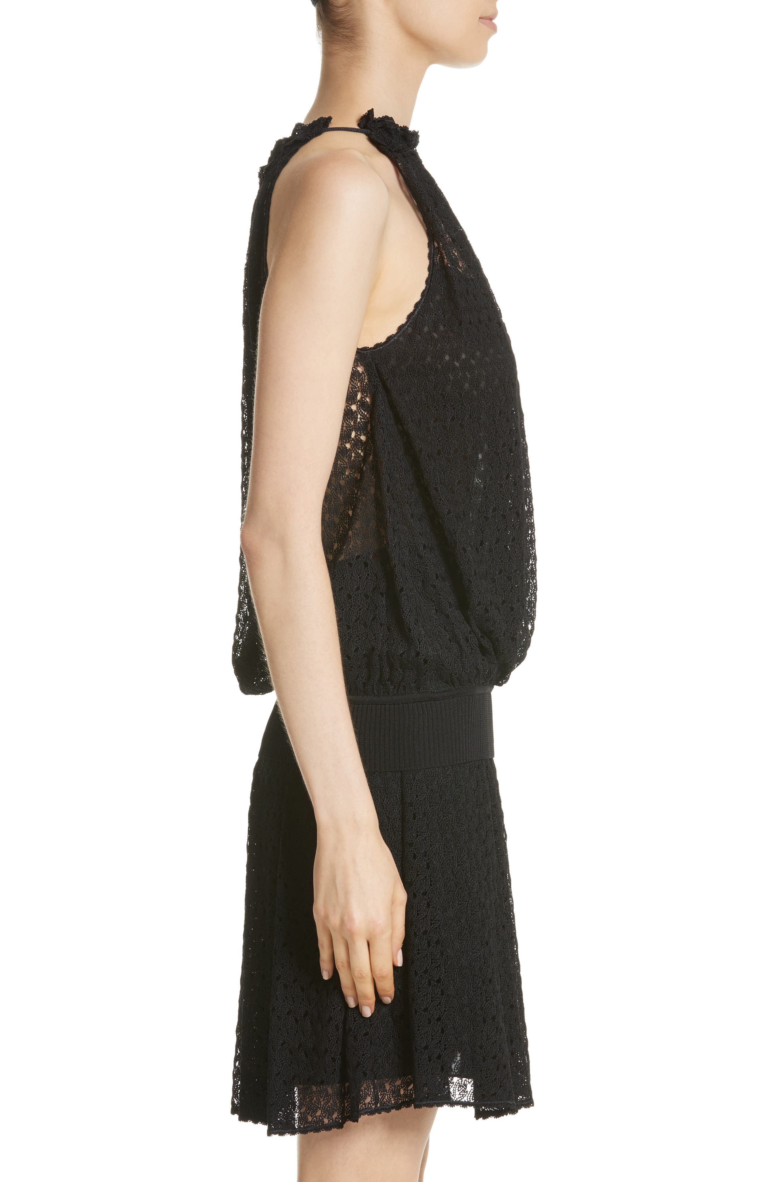 Knit Halter Tank,                             Alternate thumbnail 3, color,                             001