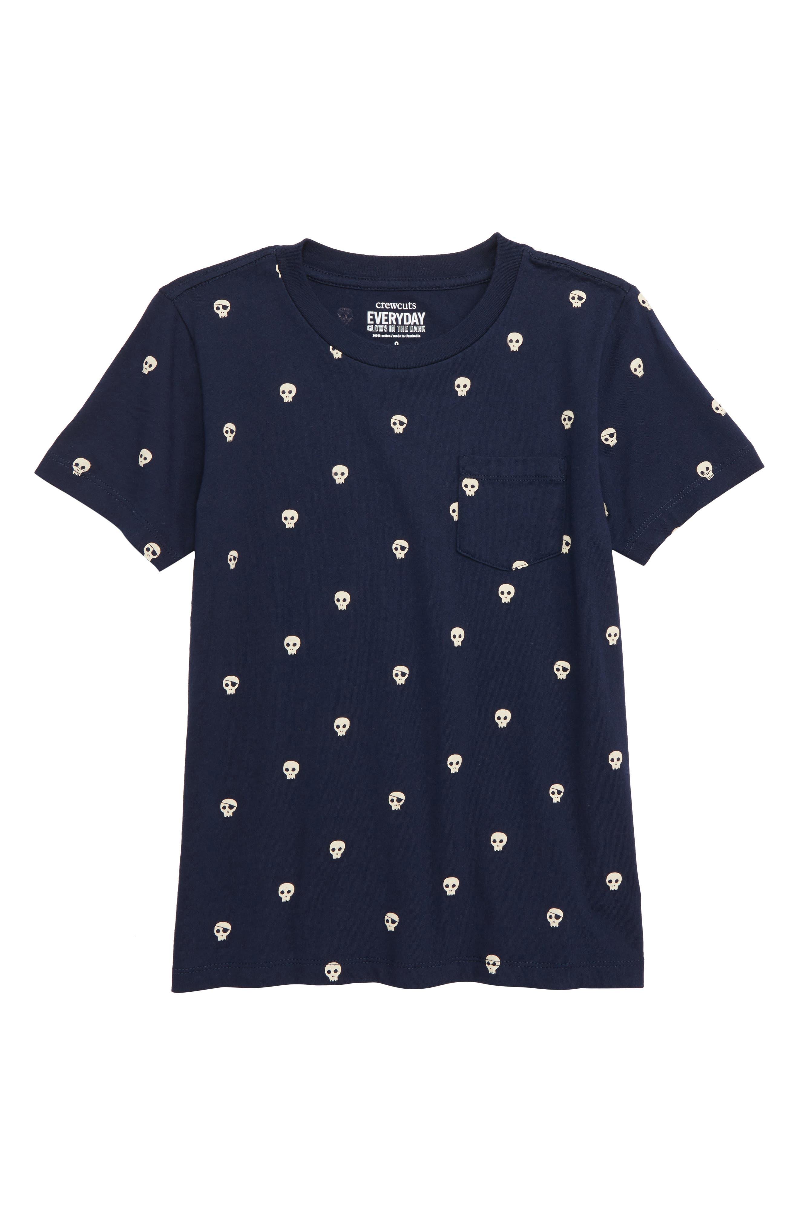 Pocket Glow in the Dark T-Shirt,                             Main thumbnail 1, color,                             NAVY