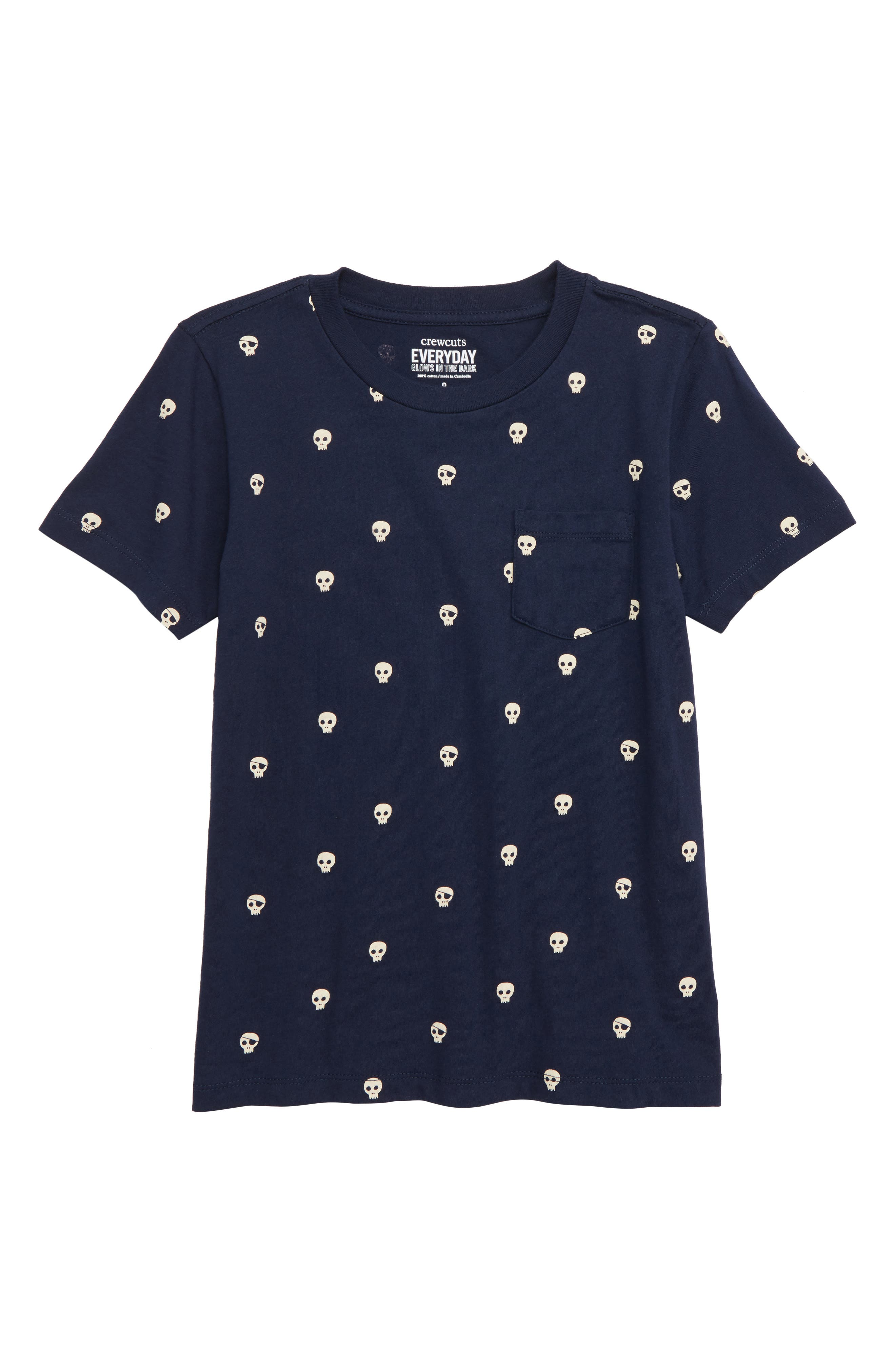 Pocket Glow in the Dark T-Shirt,                         Main,                         color, NAVY