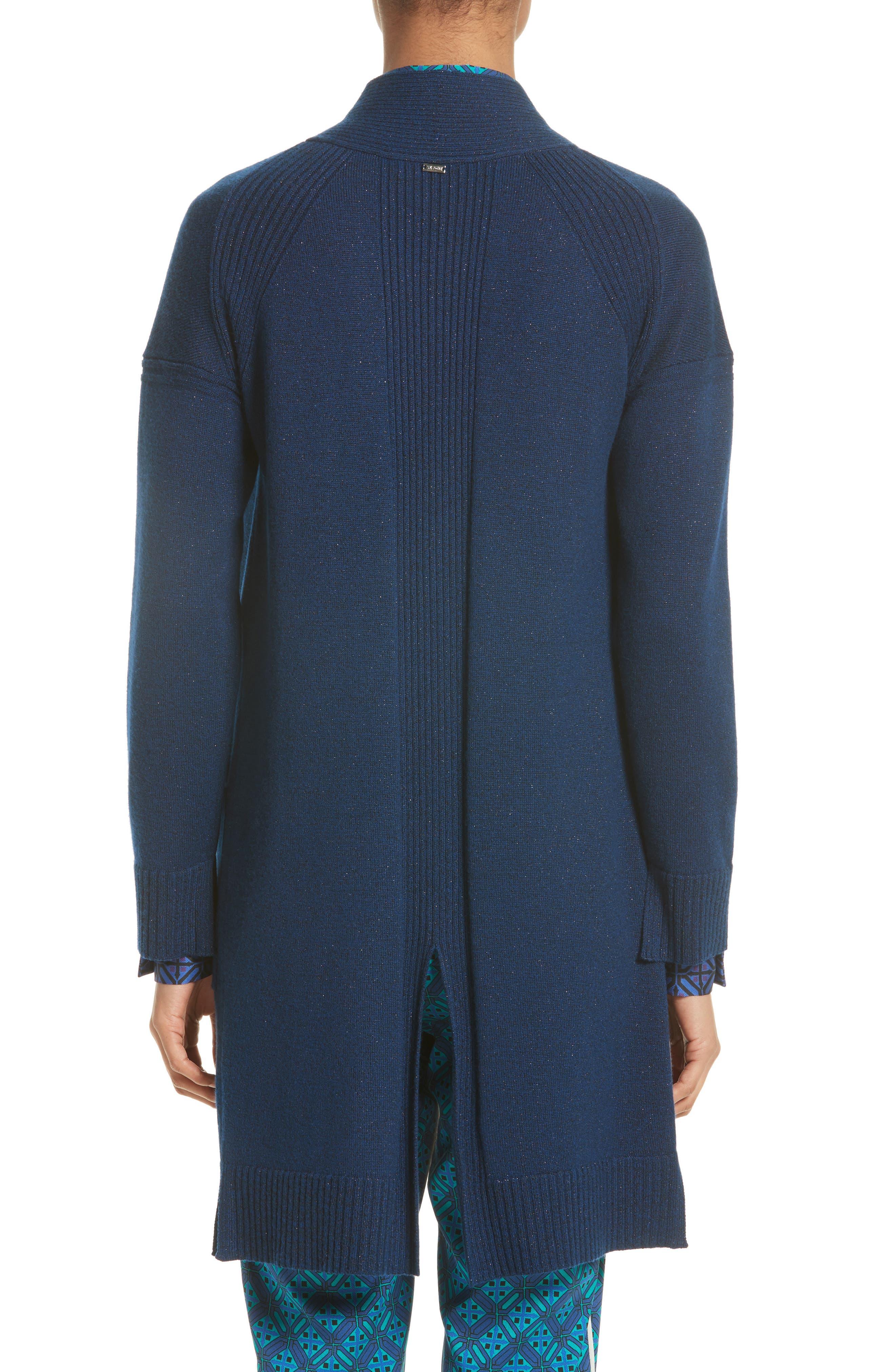 Jersey Cashmere Blend Sparkle Knit Jacket,                             Alternate thumbnail 2, color,                             410