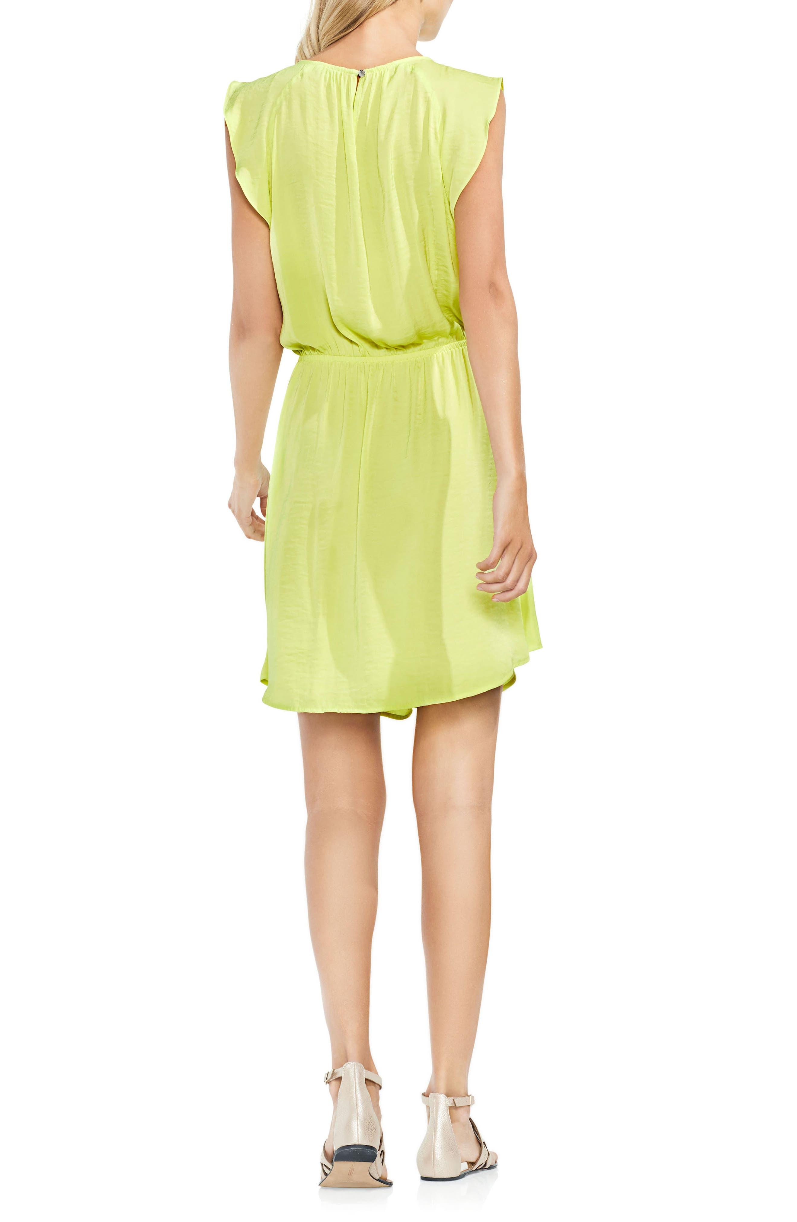 Tie Waist Rumple Mini Dress,                             Alternate thumbnail 2, color,                             300