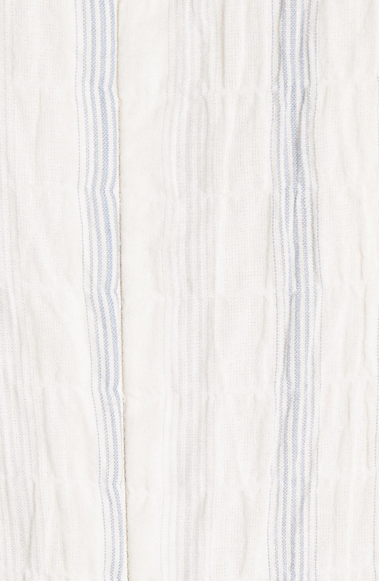 Stripe Midi Dress,                             Alternate thumbnail 5, color,                             103
