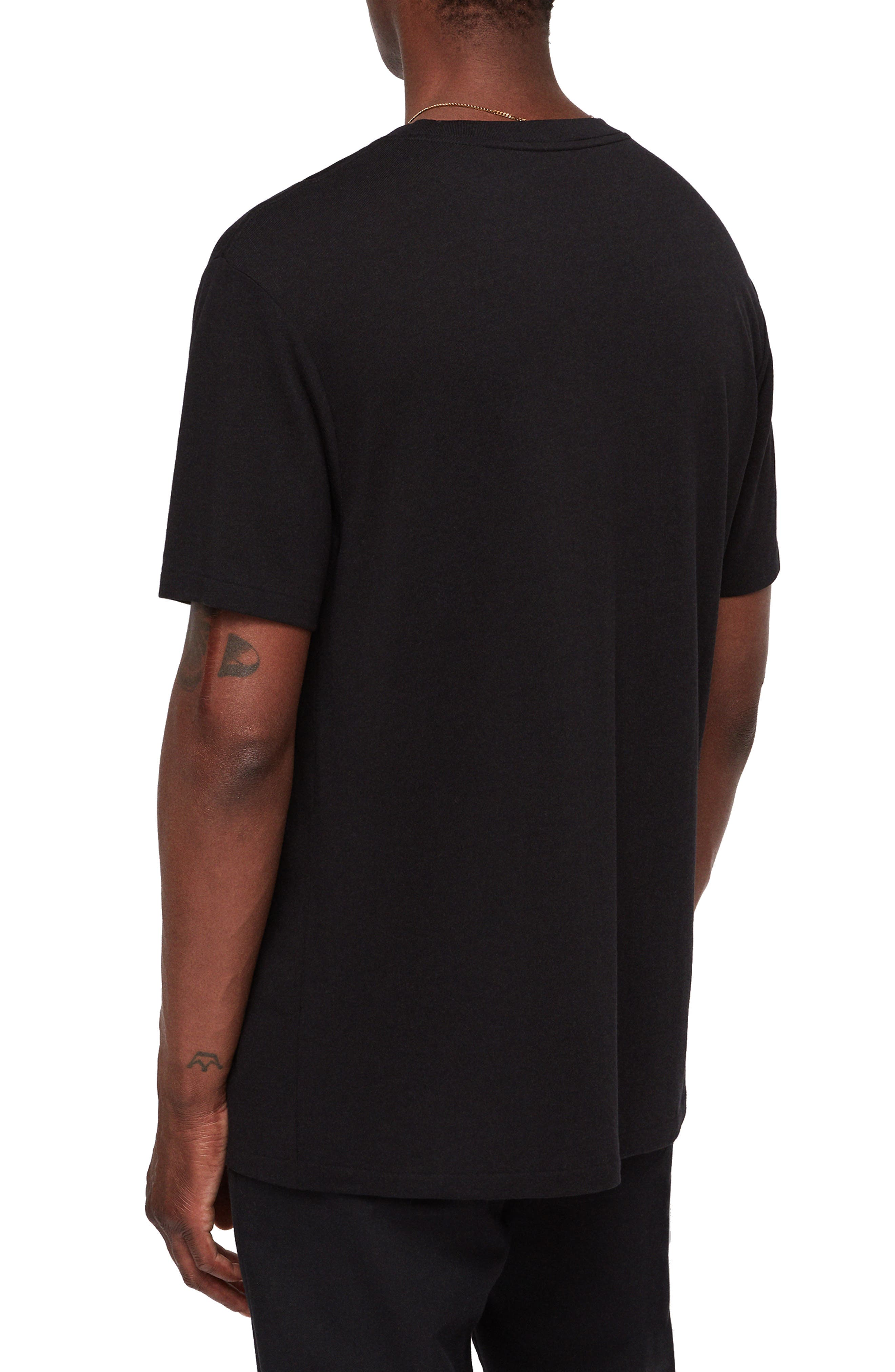Satum Longline T-Shirt,                             Alternate thumbnail 2, color,                             JET BLACK