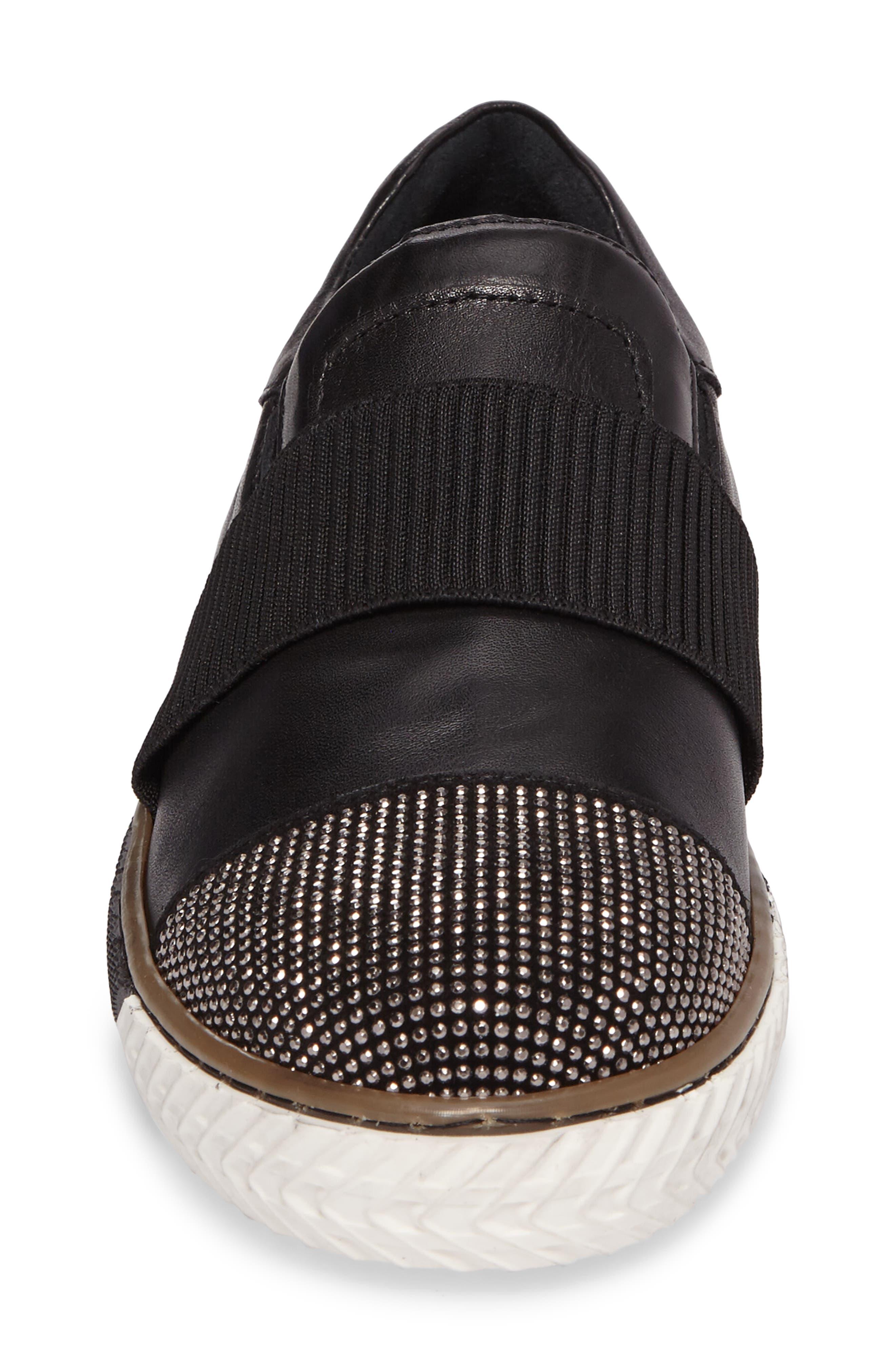 Vibe Slip-On Sneaker,                             Alternate thumbnail 4, color,                             001