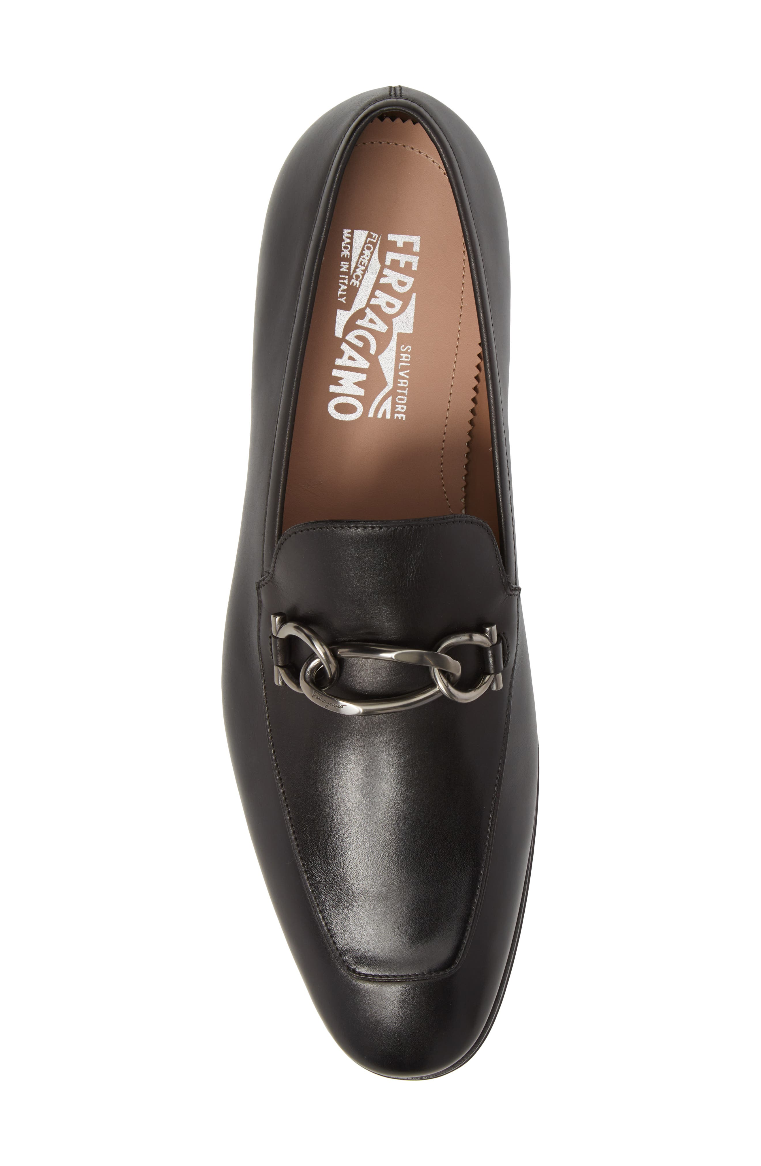 Boy Chain Bit Loafer,                             Alternate thumbnail 5, color,                             NERO LEATHER