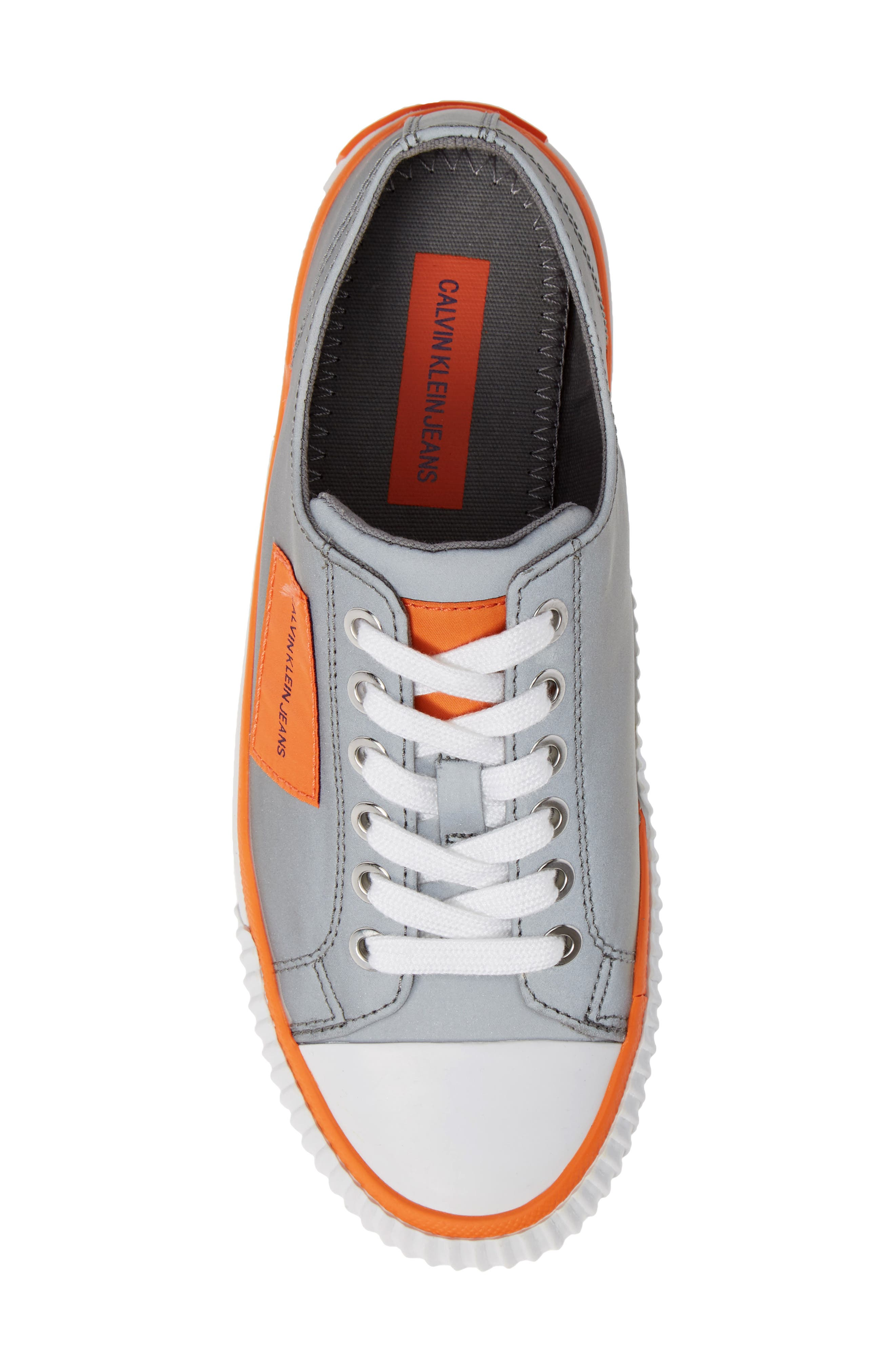 Ivory Lace-Up Sneaker,                             Alternate thumbnail 5, color,                             SILVER