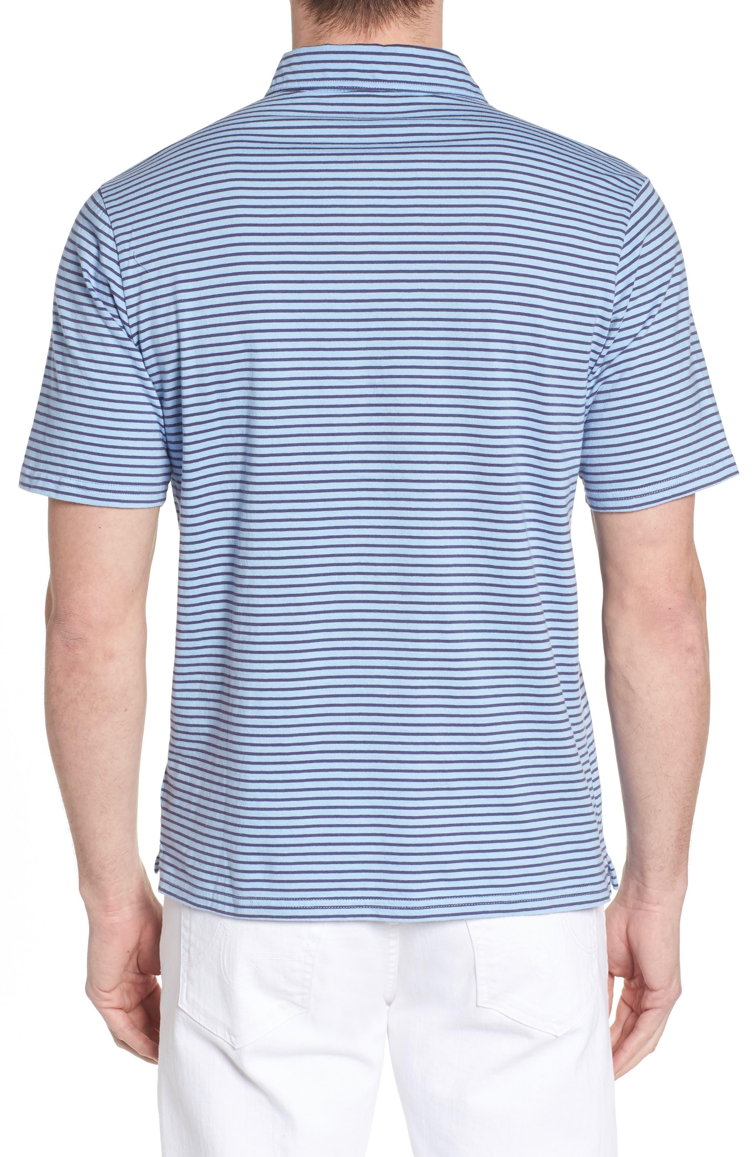 Macon Regular Fit Stripe Polo,                             Alternate thumbnail 3, color,