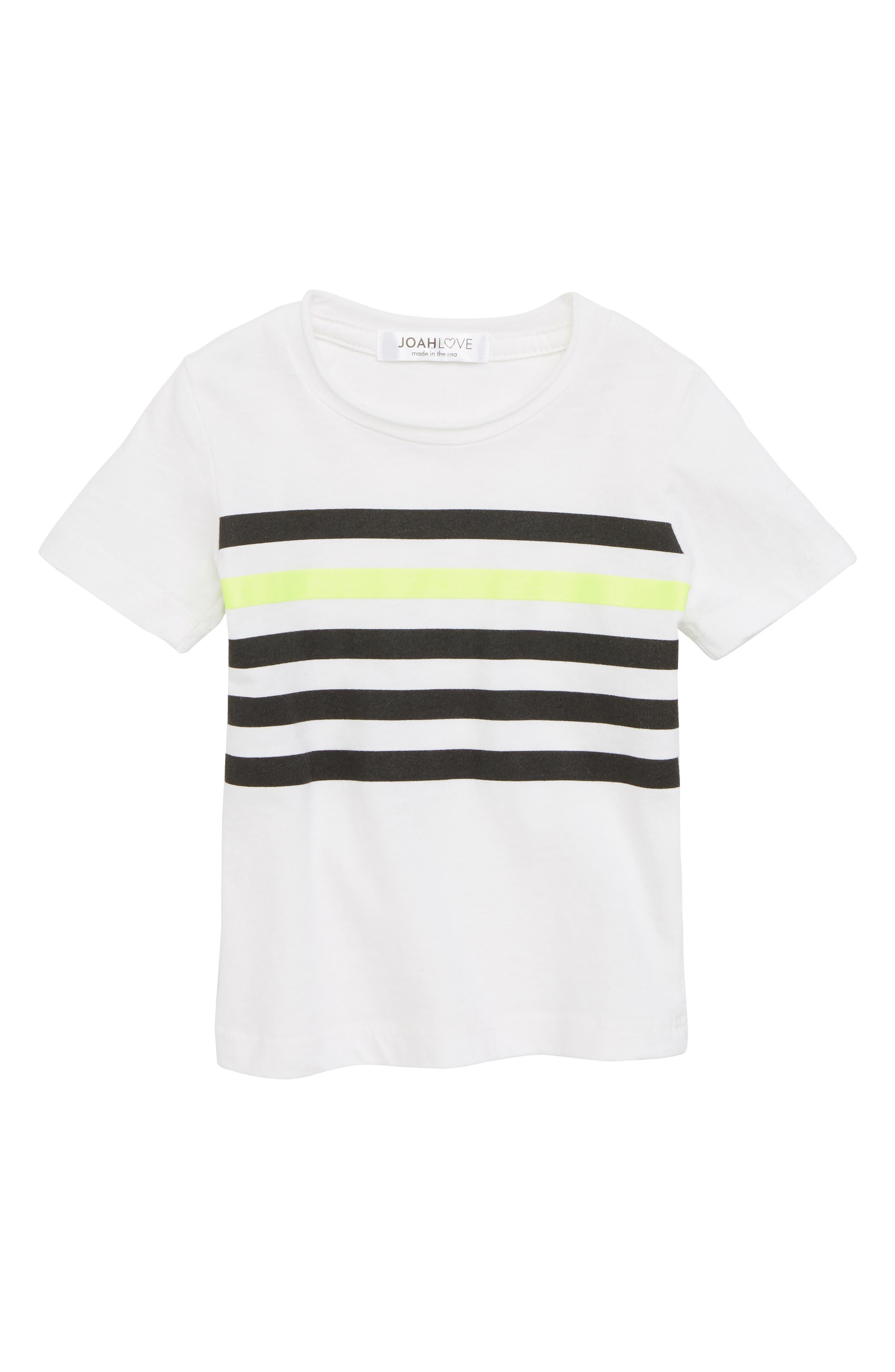 Stripe T-Shirt,                         Main,                         color, WHITE